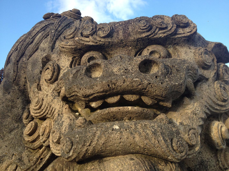 烏帽子山八幡宮の狛犬