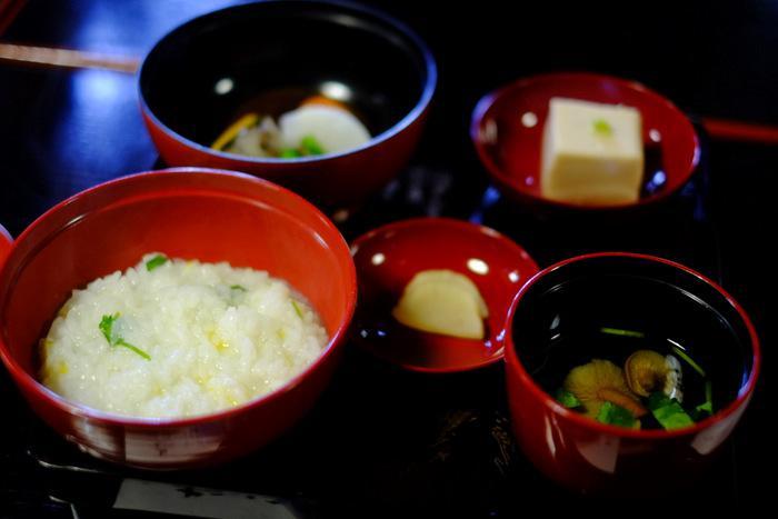 三佛寺の食事