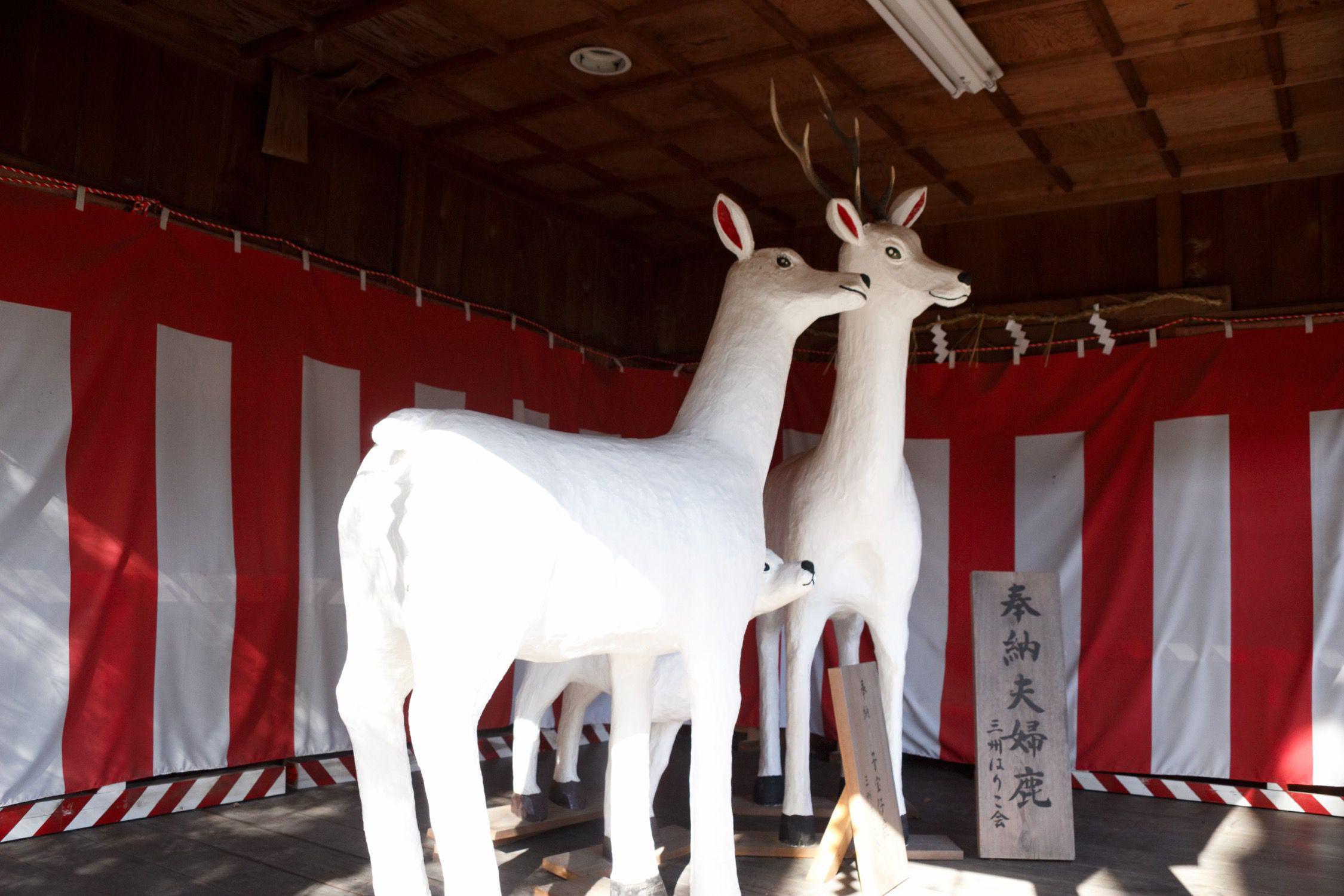 砥鹿神社(里宮)の像