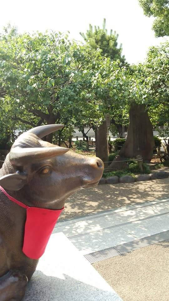 湯島天満宮の像