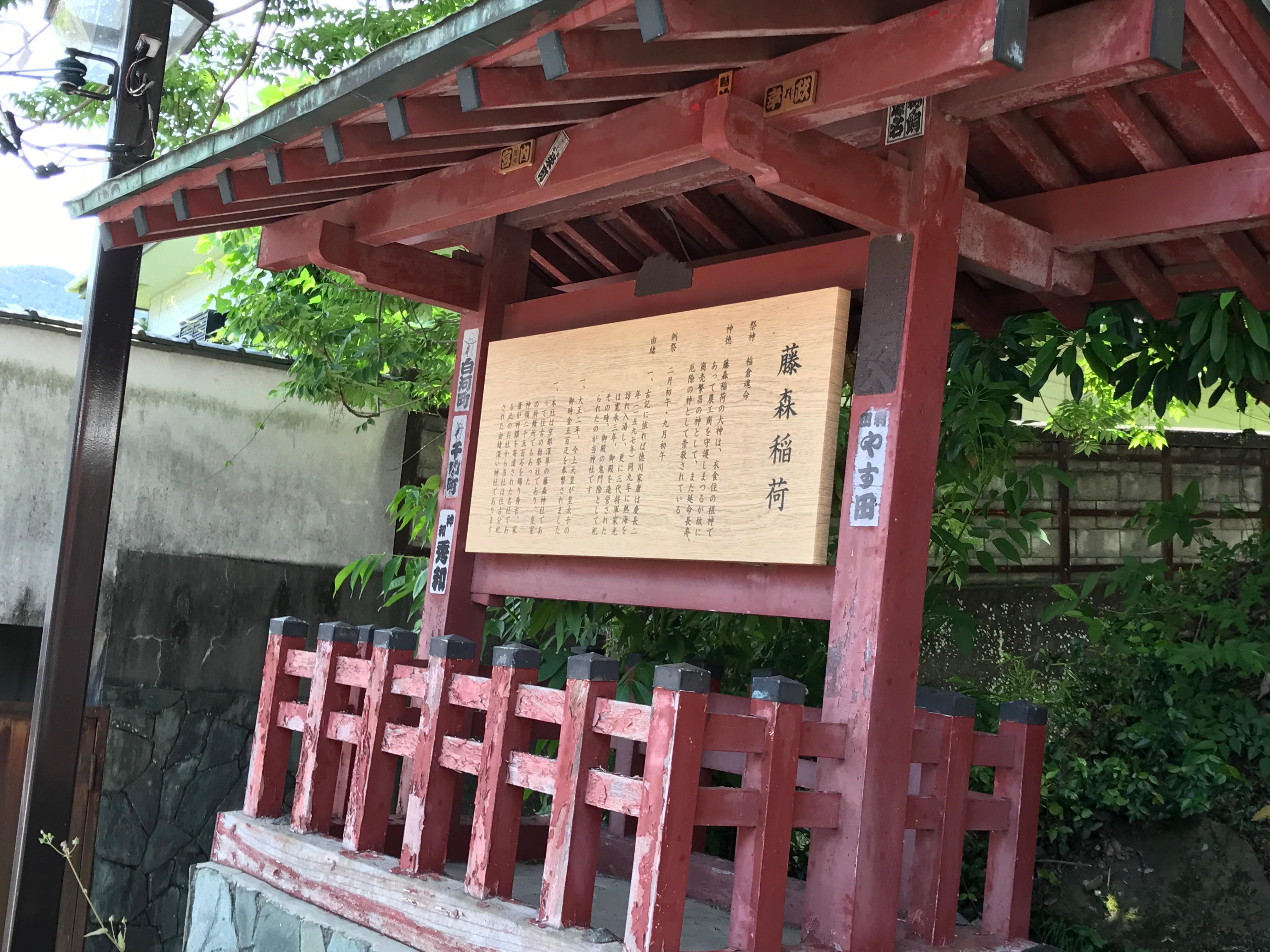 藤森稲荷神社の歴史
