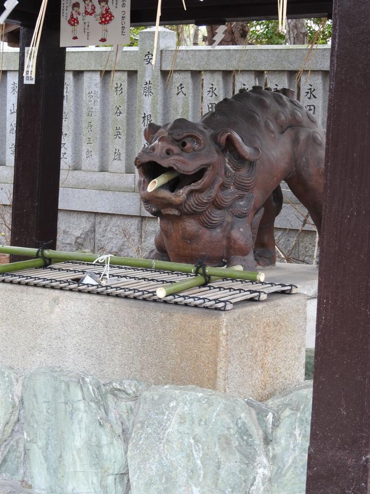 阿部野神社の手水