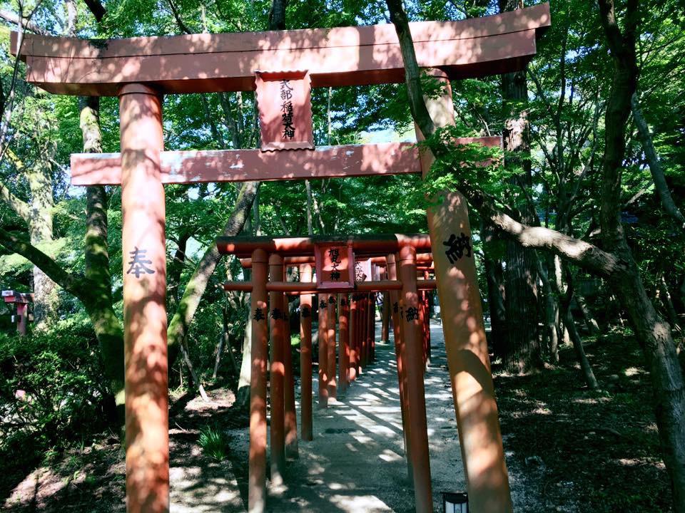 宝満宮竈門神社の鳥居(福岡県太宰府駅)