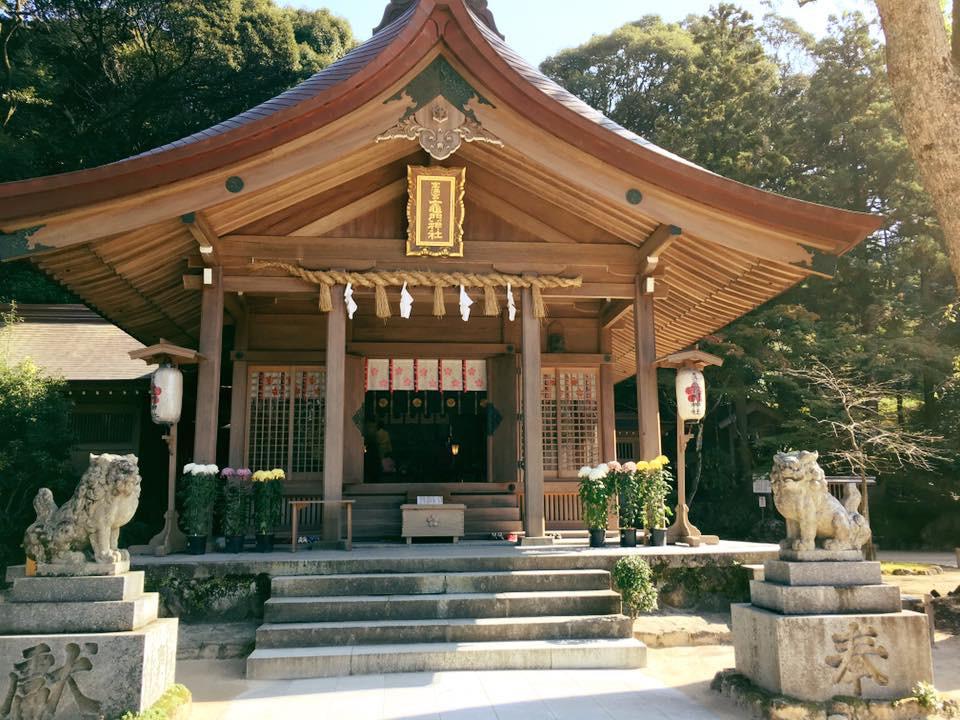 宝満宮竈門神社の本殿(福岡県太宰府駅)
