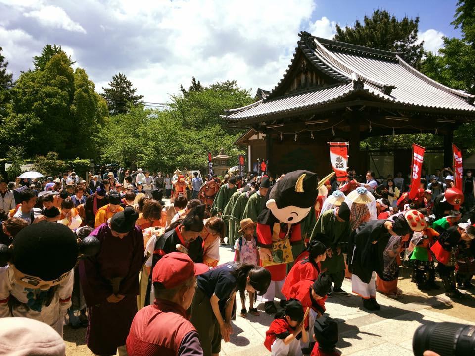 道明寺天満宮のお祭り