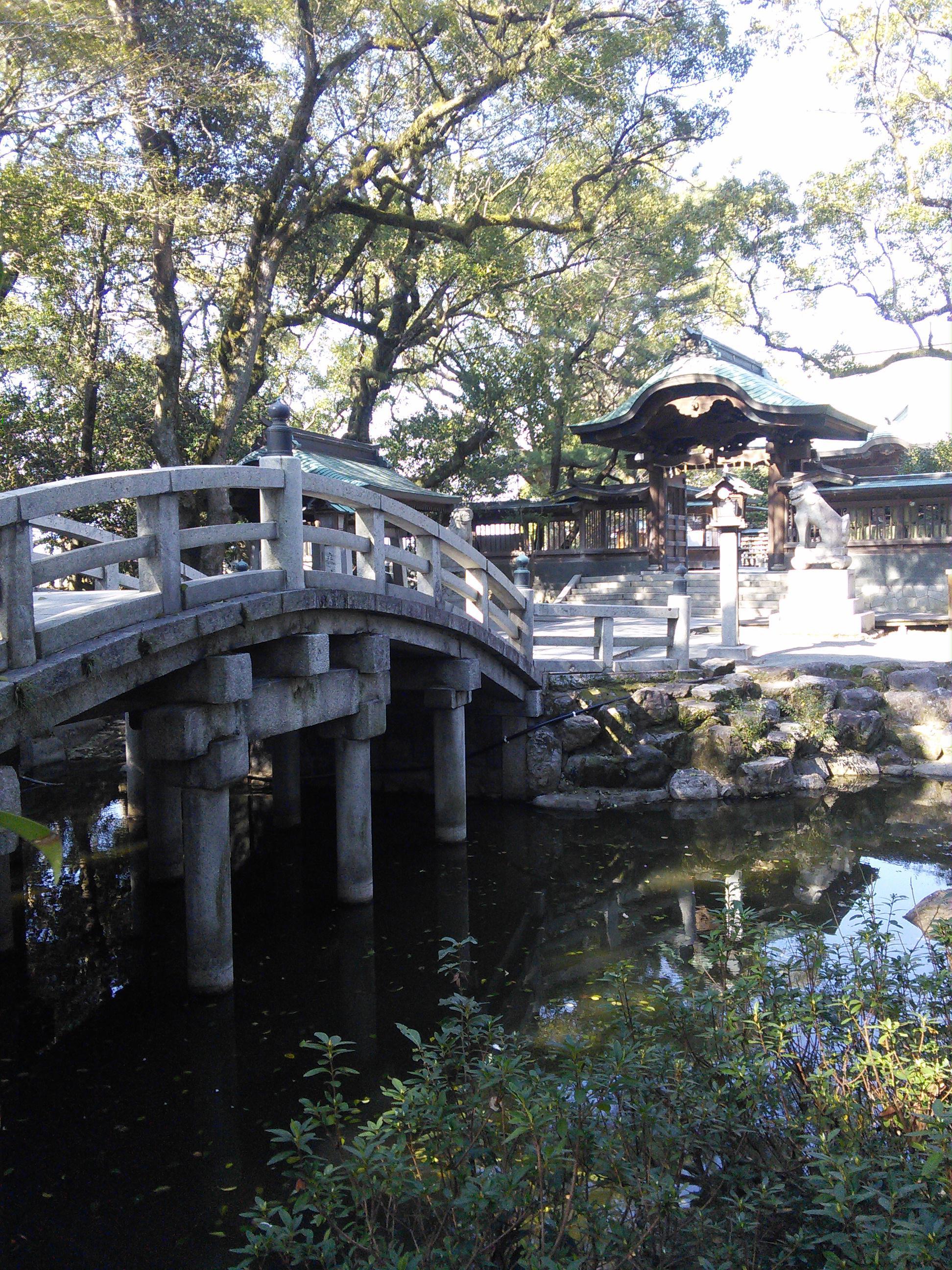 水天宮の庭園