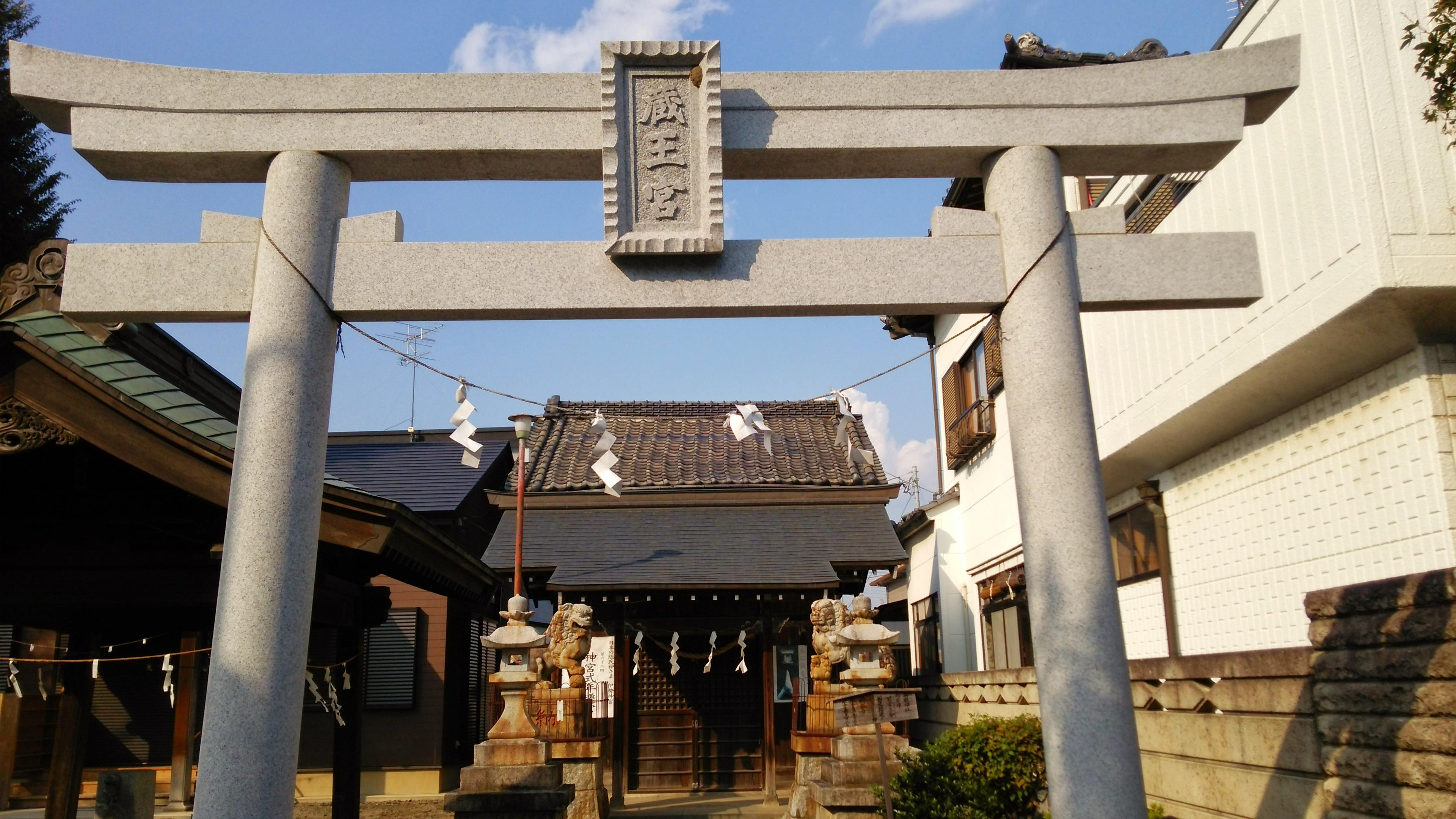 御嶽神社(小児玉稲荷社)の鳥居