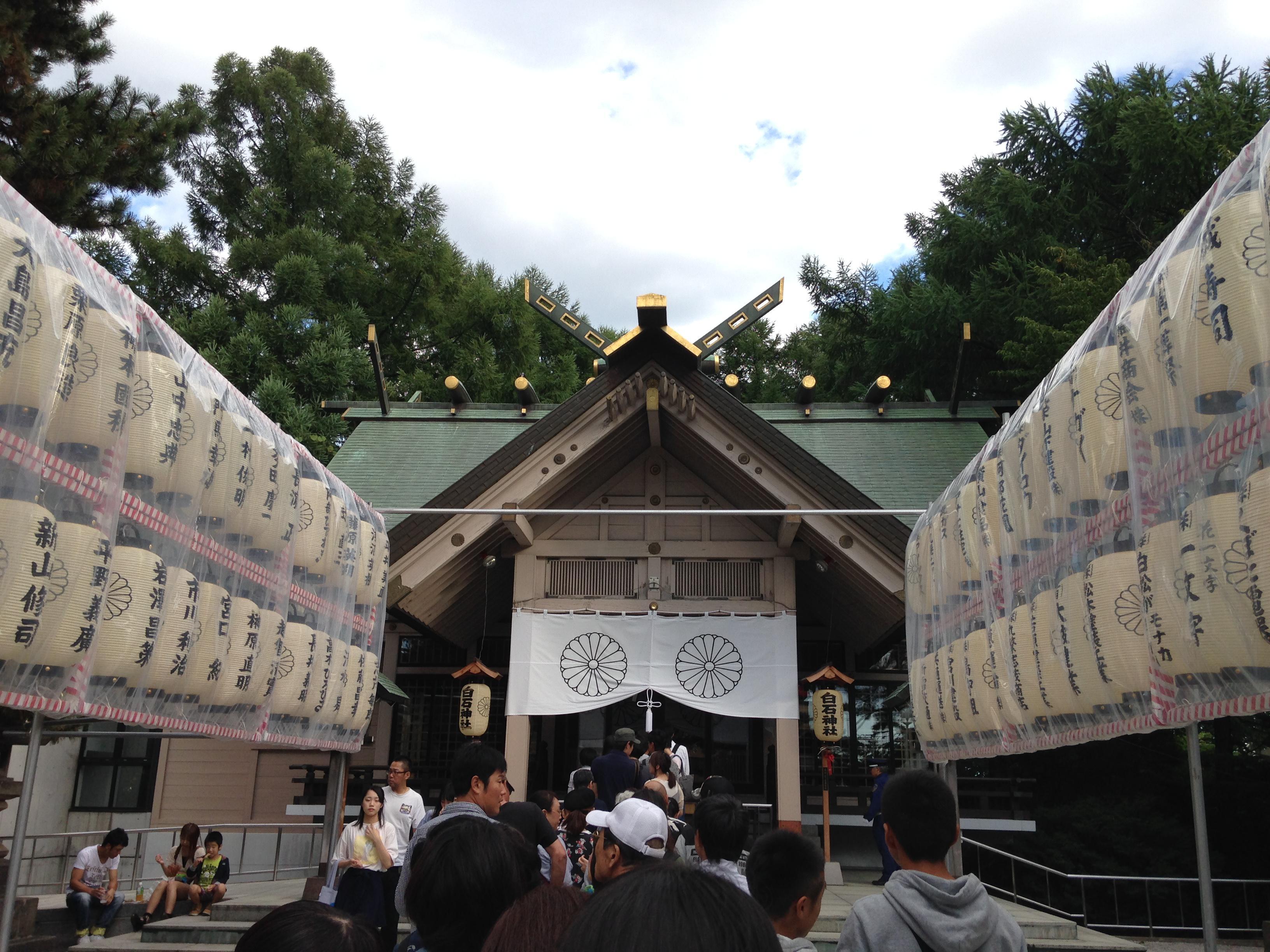 白石神社のお祭り