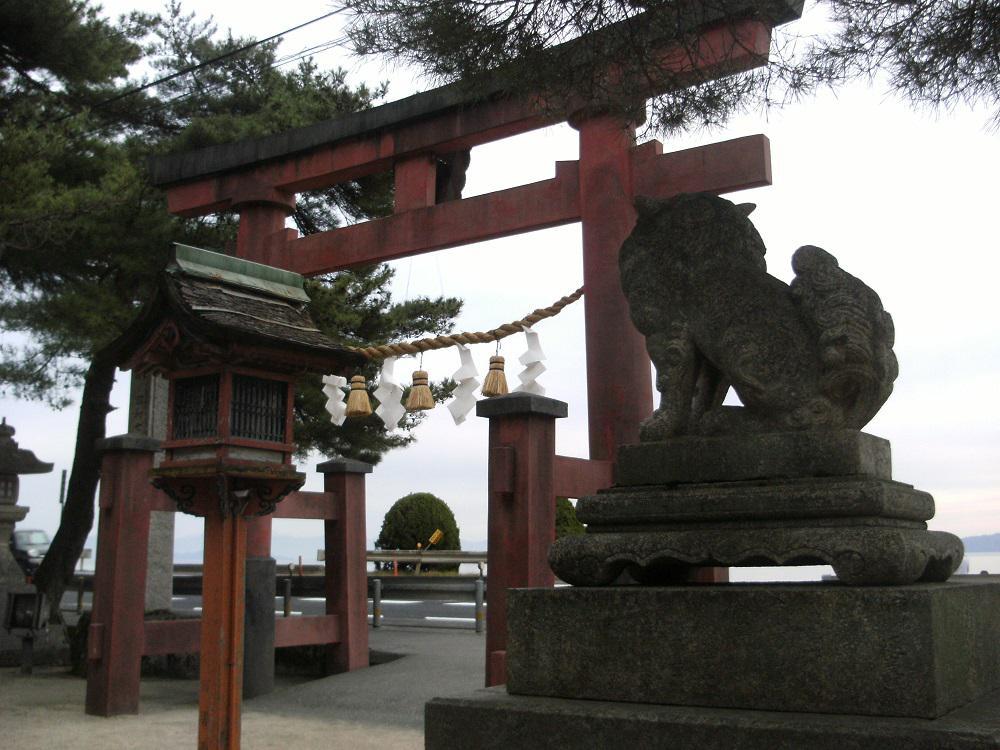 白鬚神社の狛犬