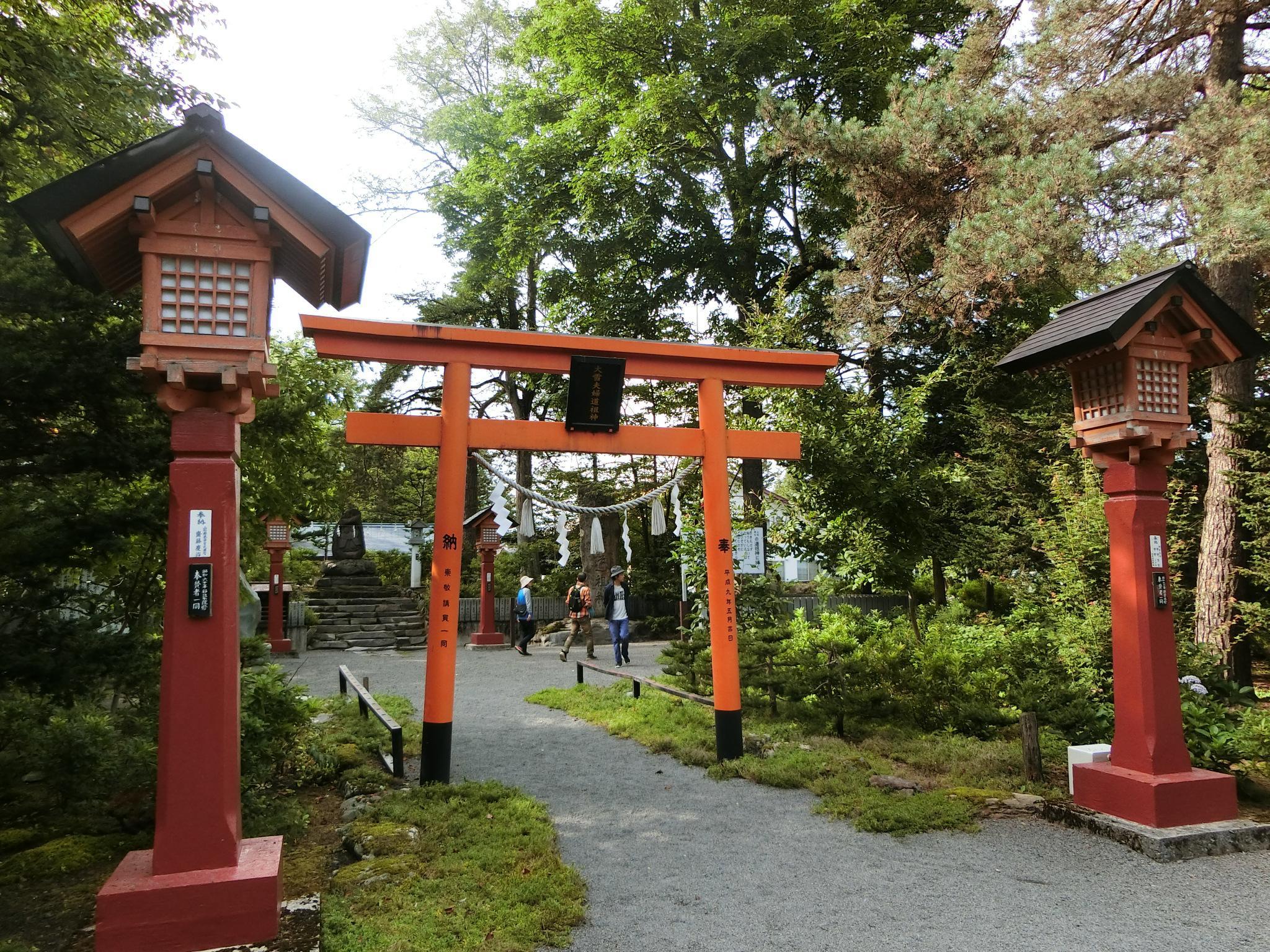 比布神社の鳥居