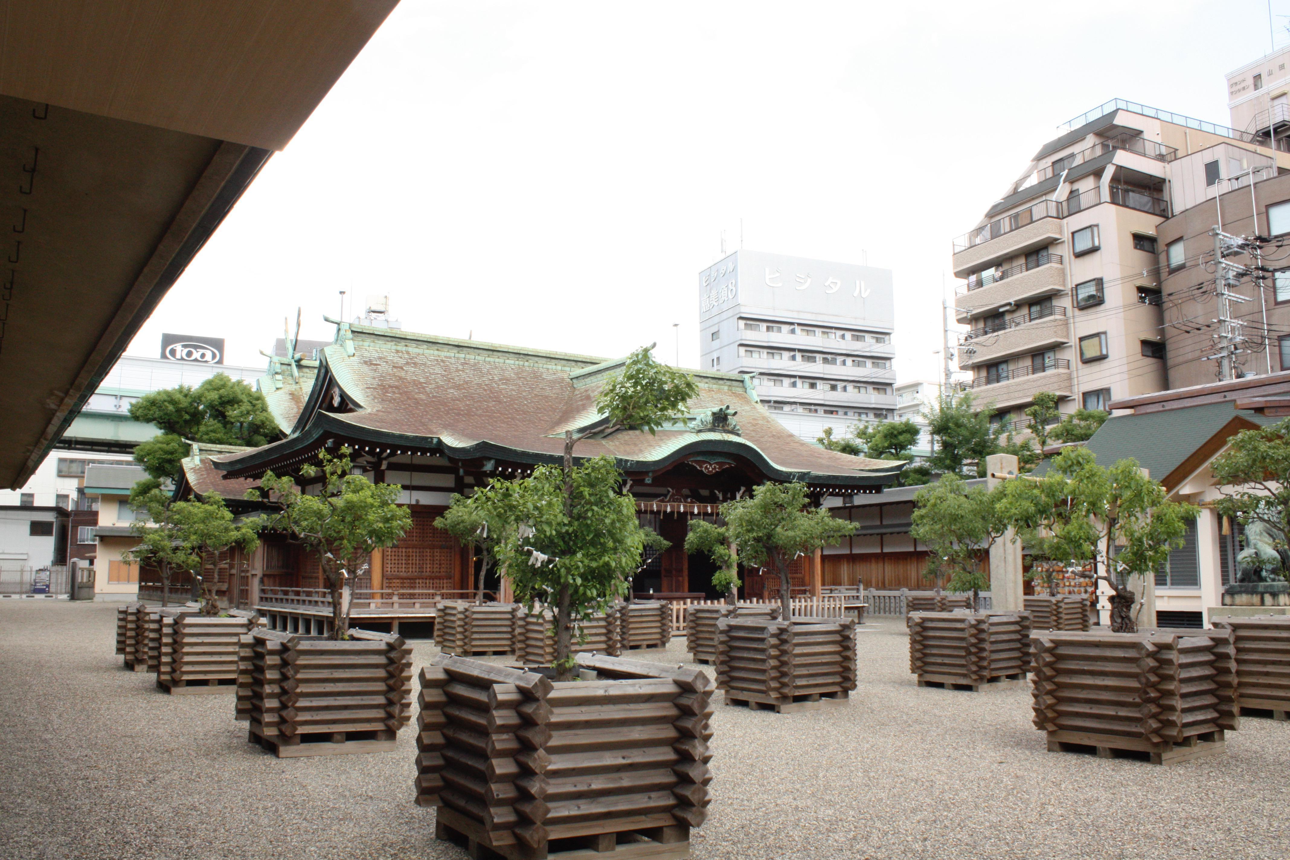 今宮戎神社の庭園
