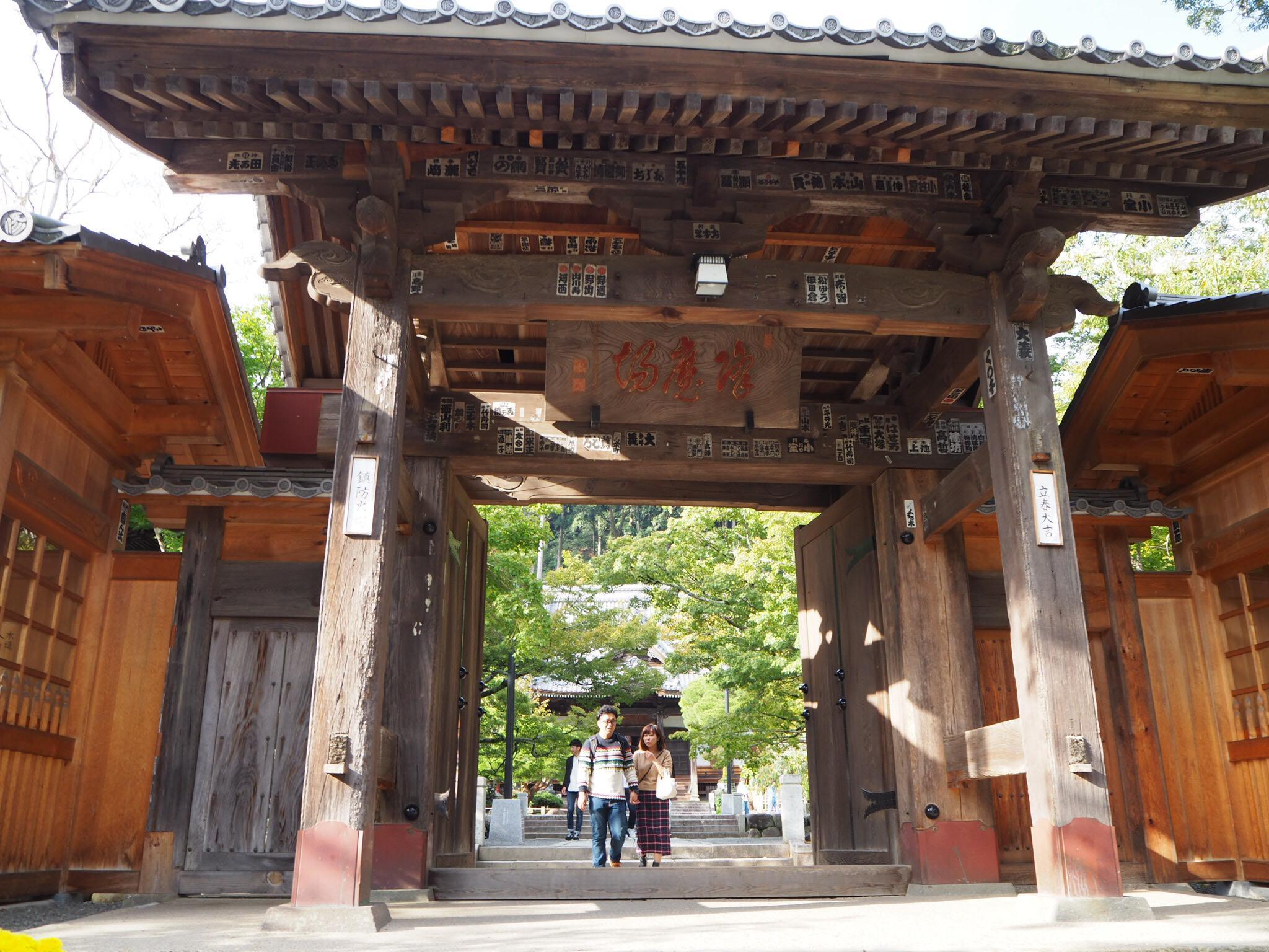 修禅寺の山門(静岡県修善寺駅)