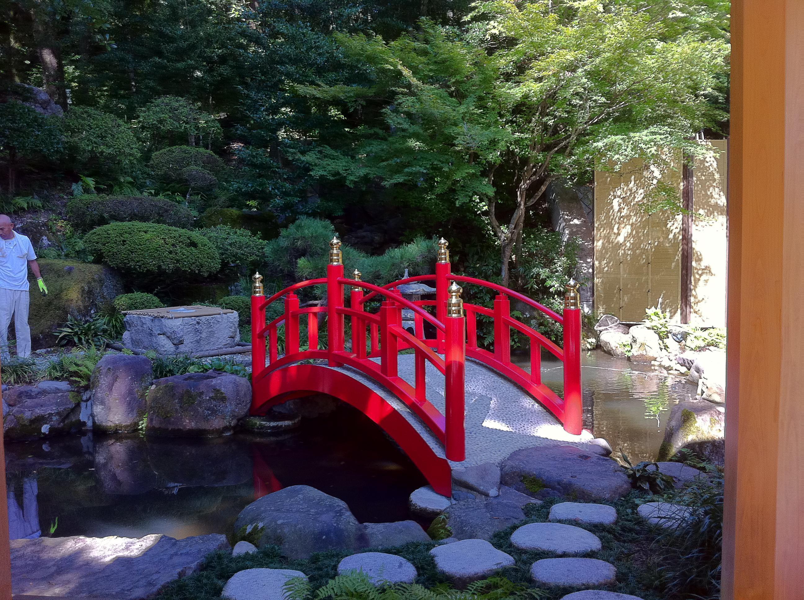 宇倍神社の庭園