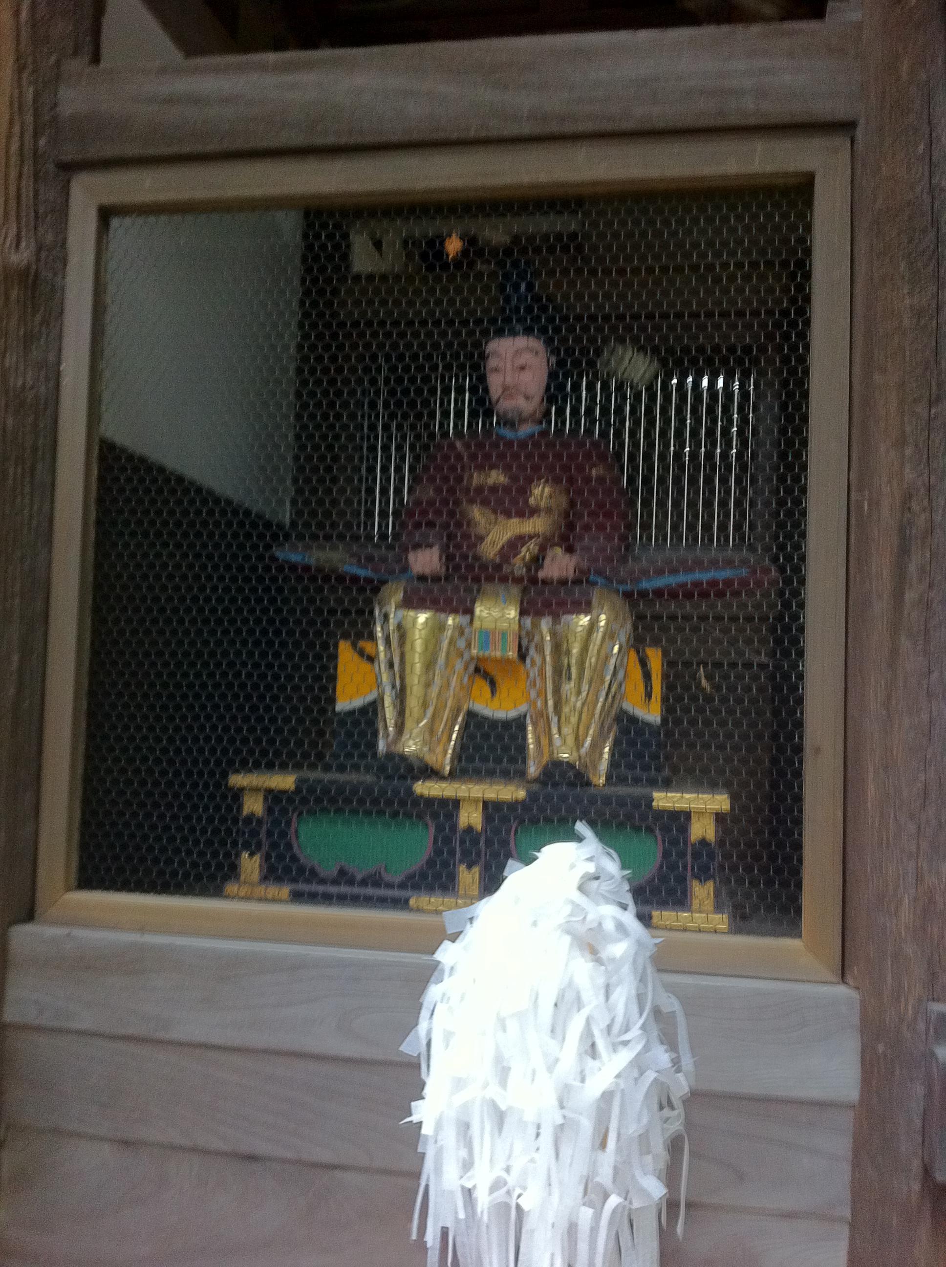 御上神社の像