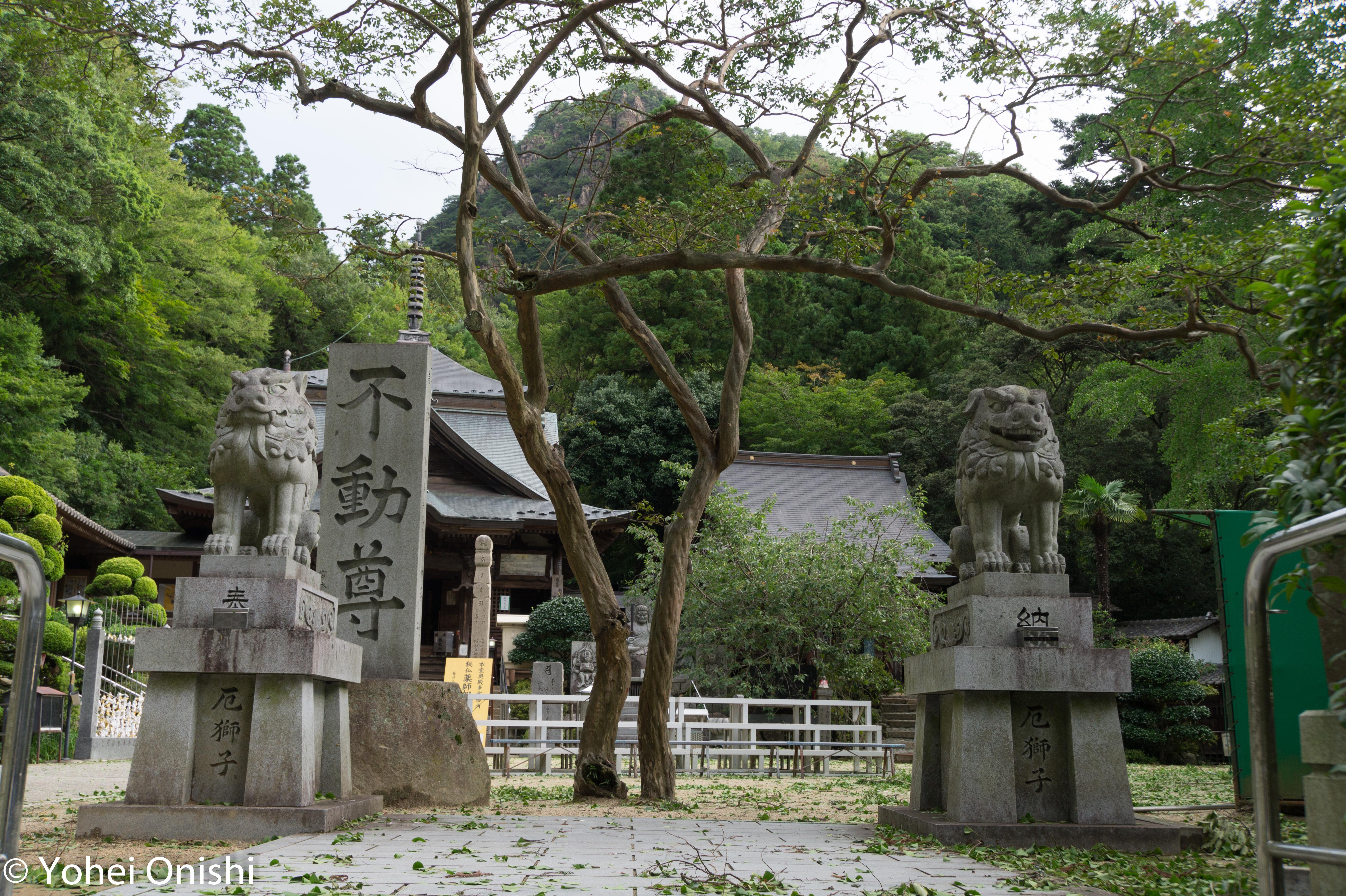 大窪寺の狛犬