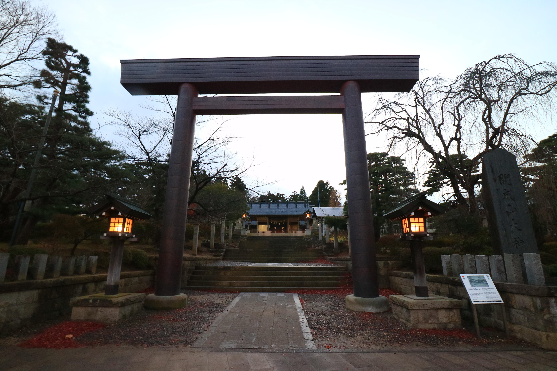 開成山大神宮の鳥居(福島県郡山駅)