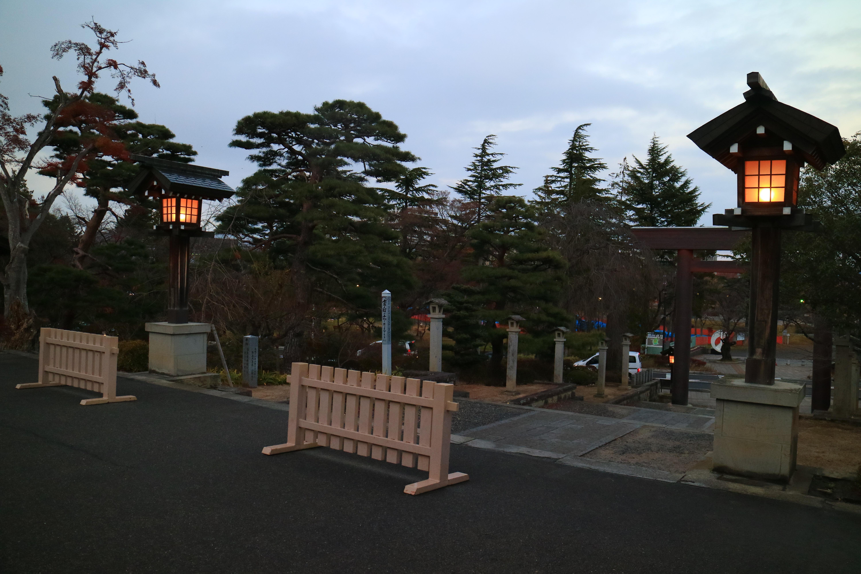 開成山大神宮の景色(福島県郡山駅)