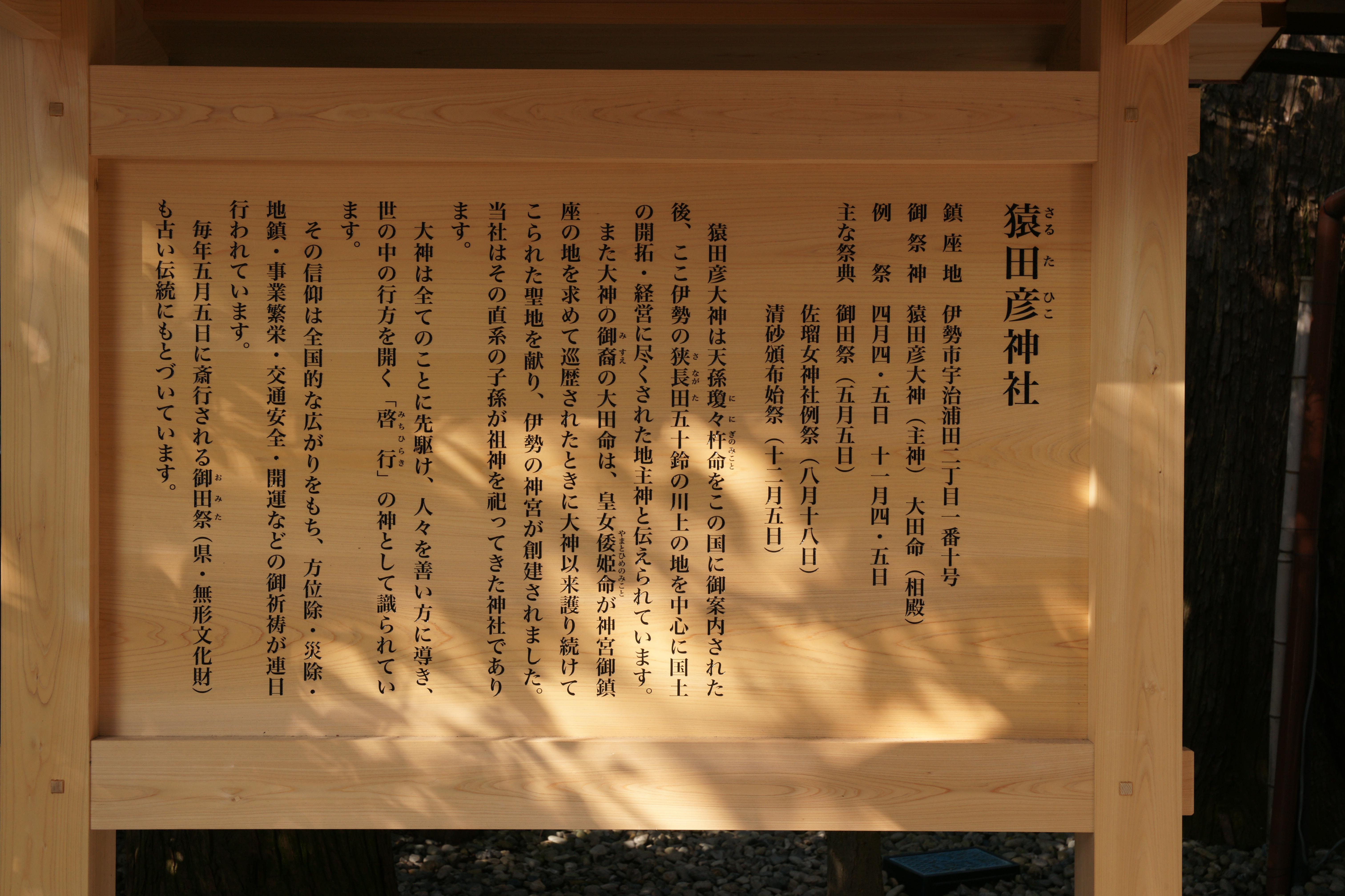 猿田彦神社の歴史