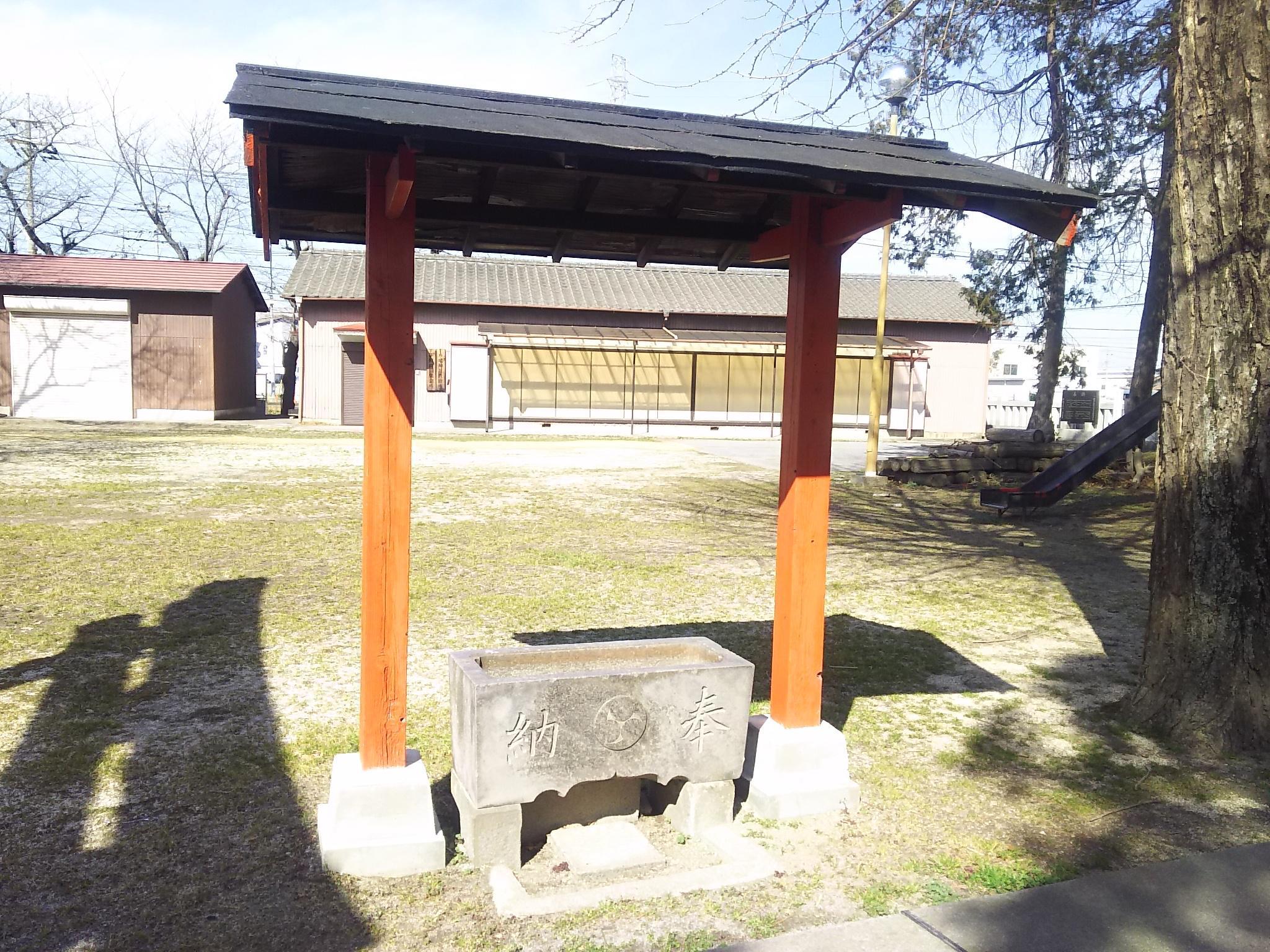 伊原八幡神社の手水