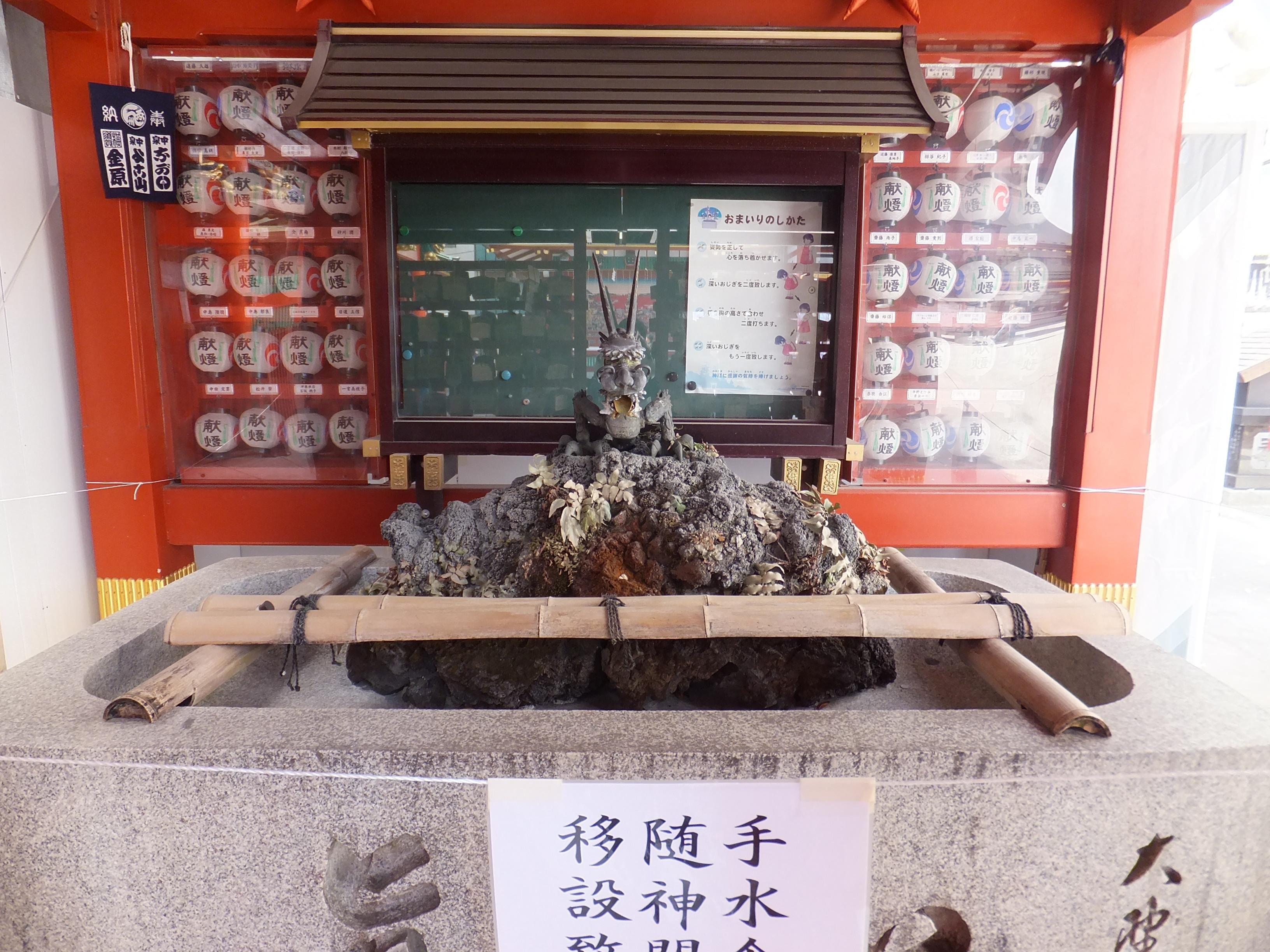 神田神社(神田明神)の手水