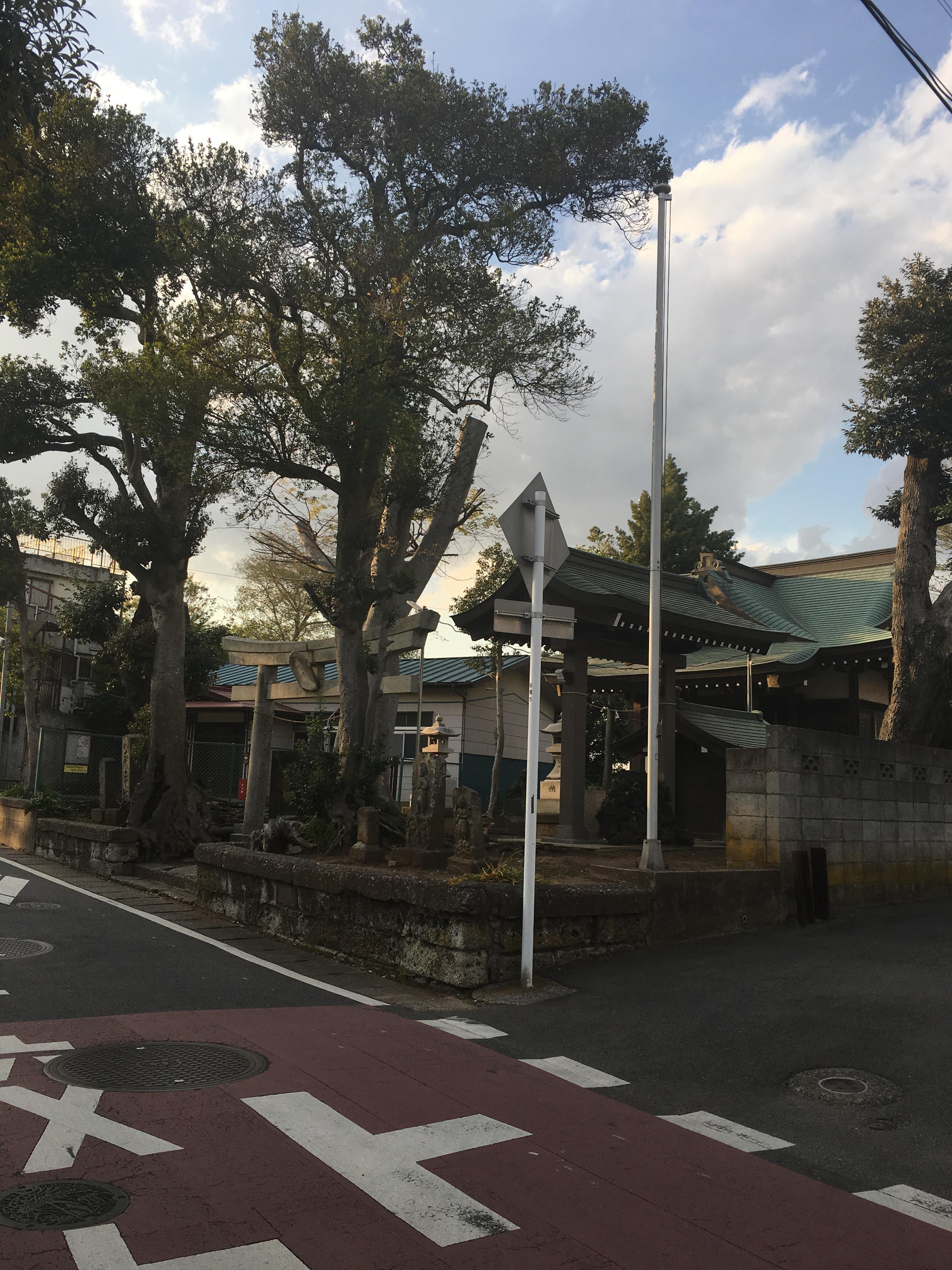 八幡神社の周辺(千葉県塚田駅)