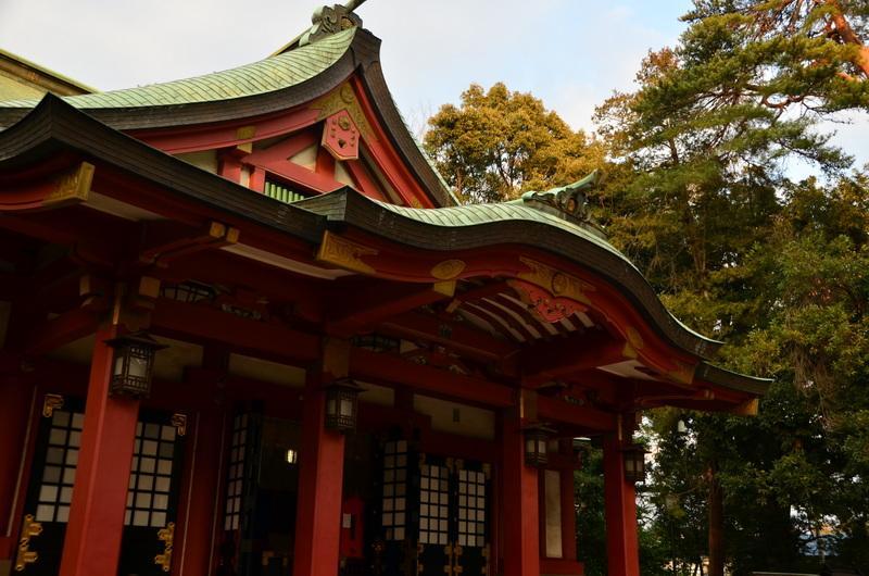 世田谷八幡宮の本殿(東京都宮の坂駅)
