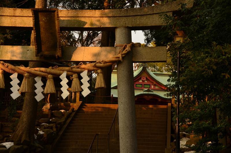 世田谷八幡宮の鳥居(東京都宮の坂駅)