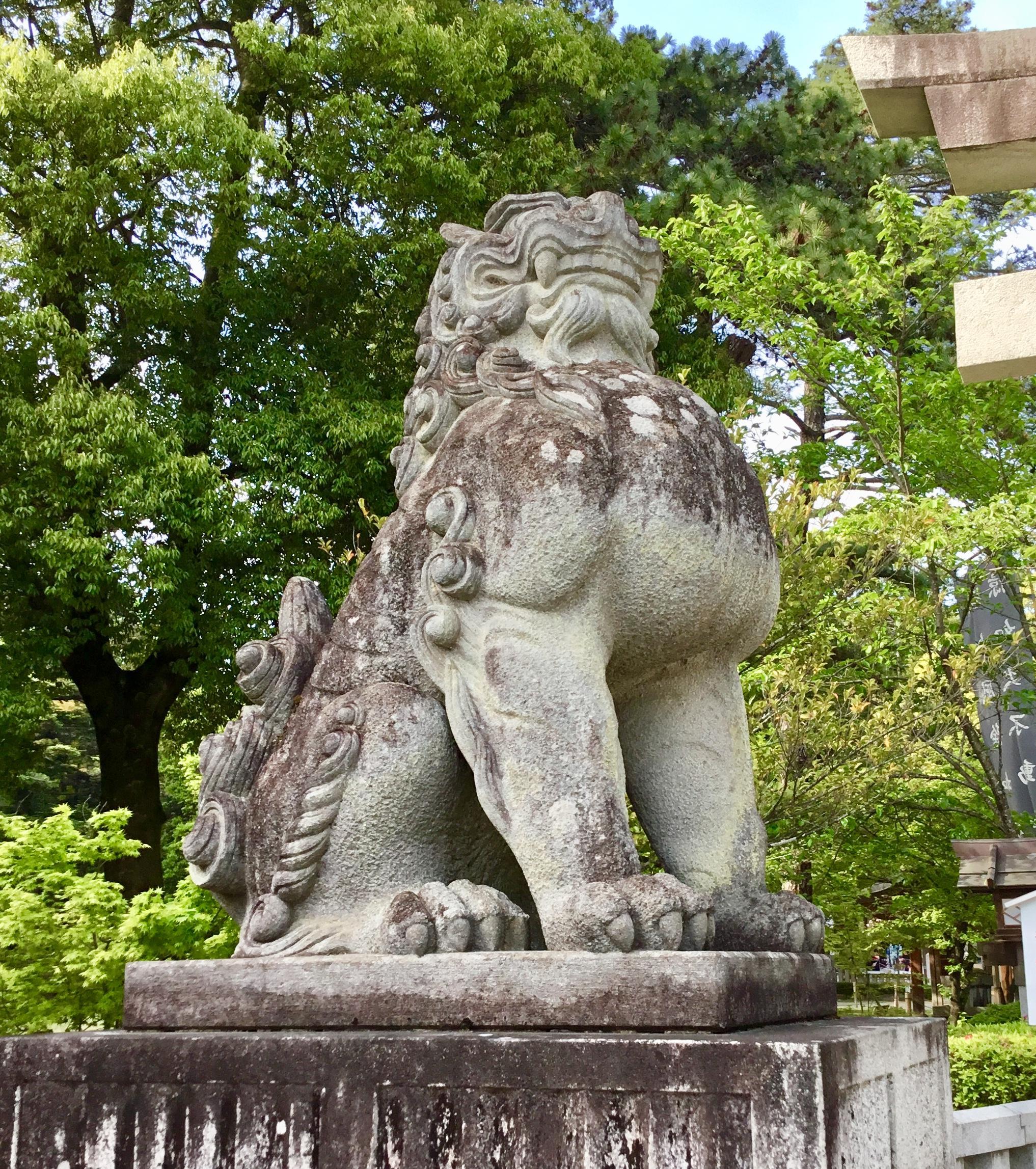 武田神社の狛犬