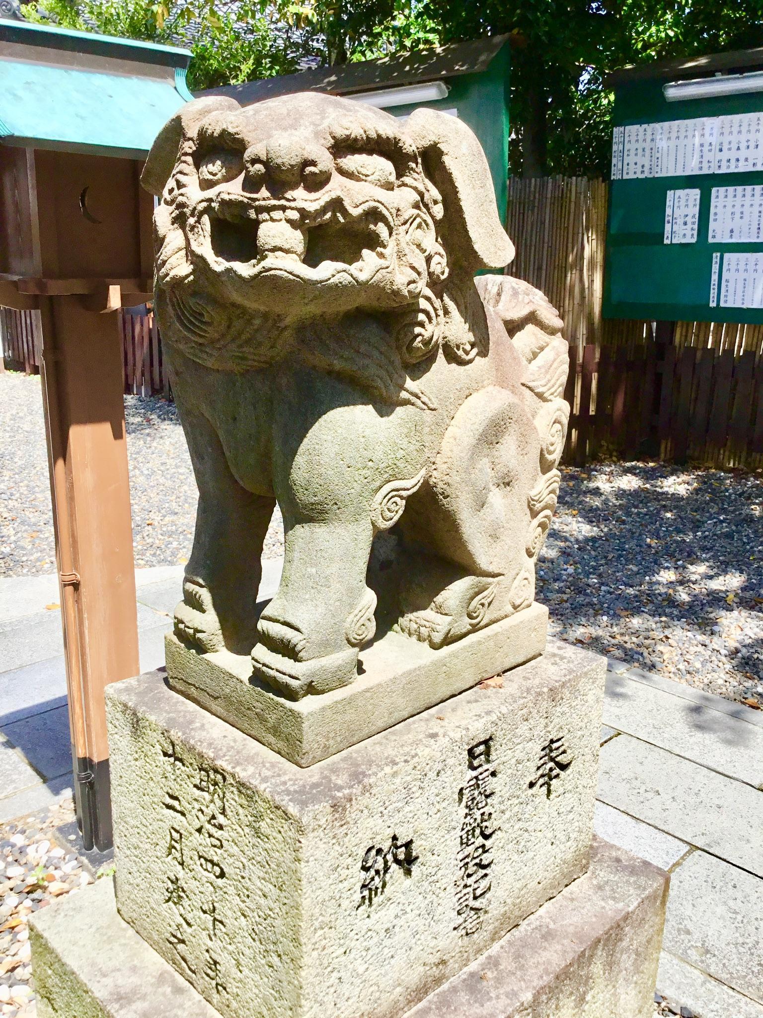 伊奴神社の狛犬