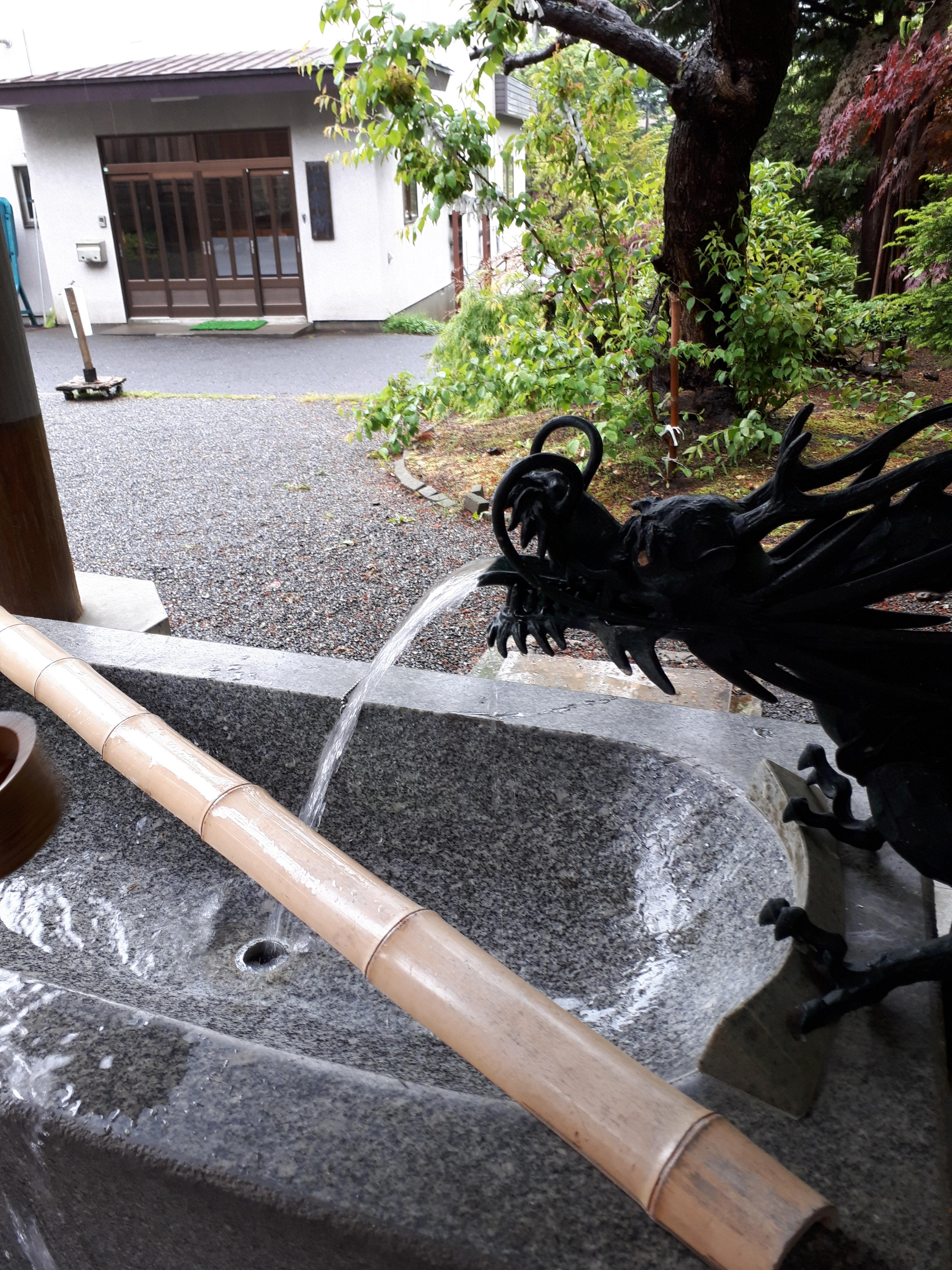 平岸天満宮・太平山三吉神社の手水