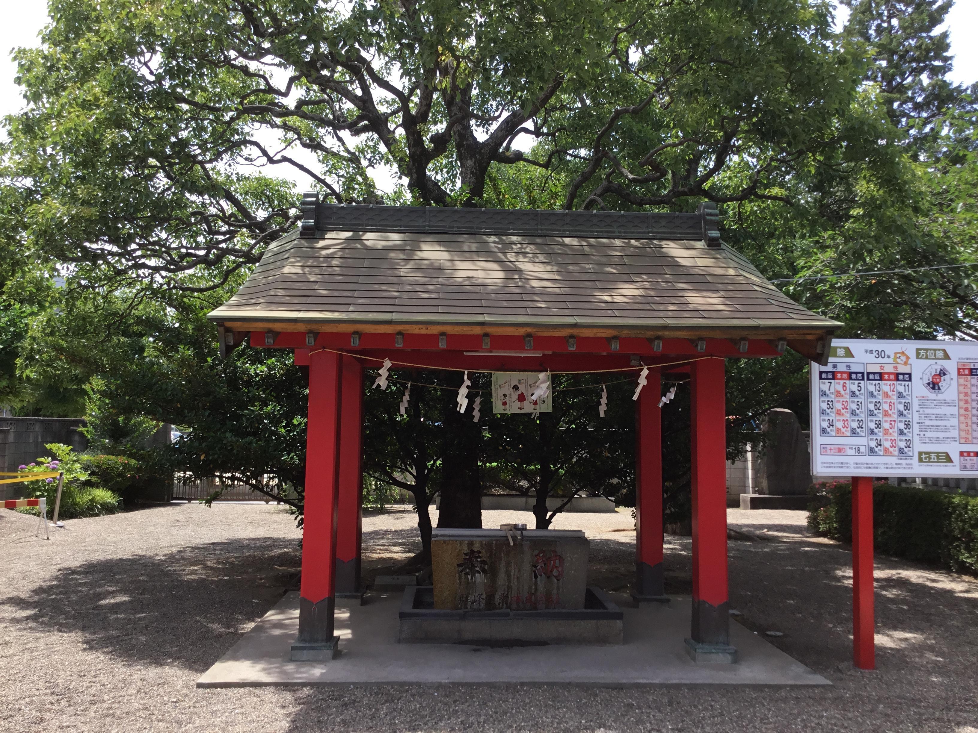 元郷氷川神社の手水