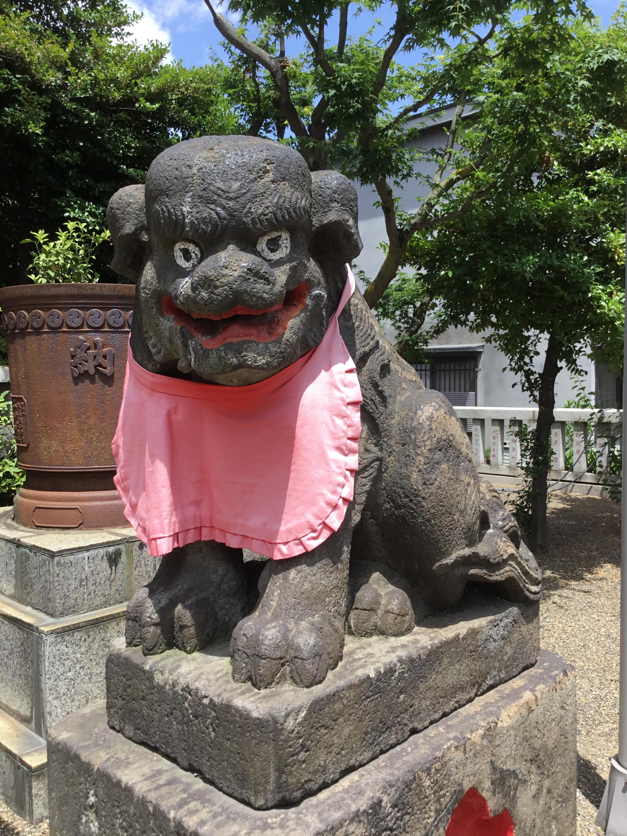 元郷氷川神社の狛犬