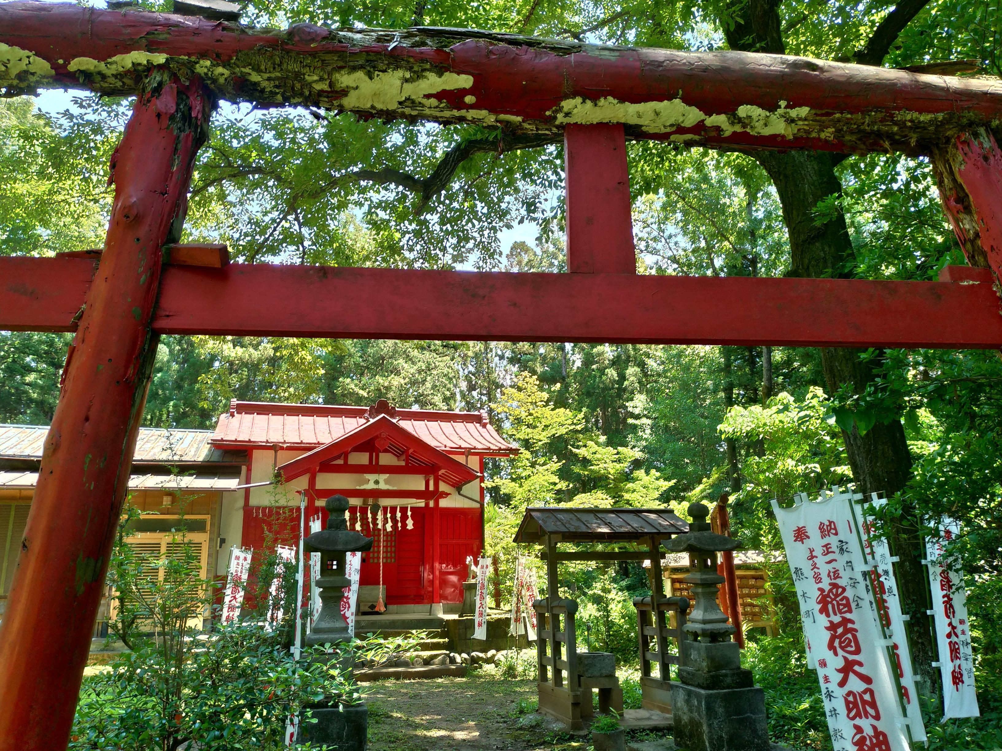 上之臺稲荷神社の鳥居