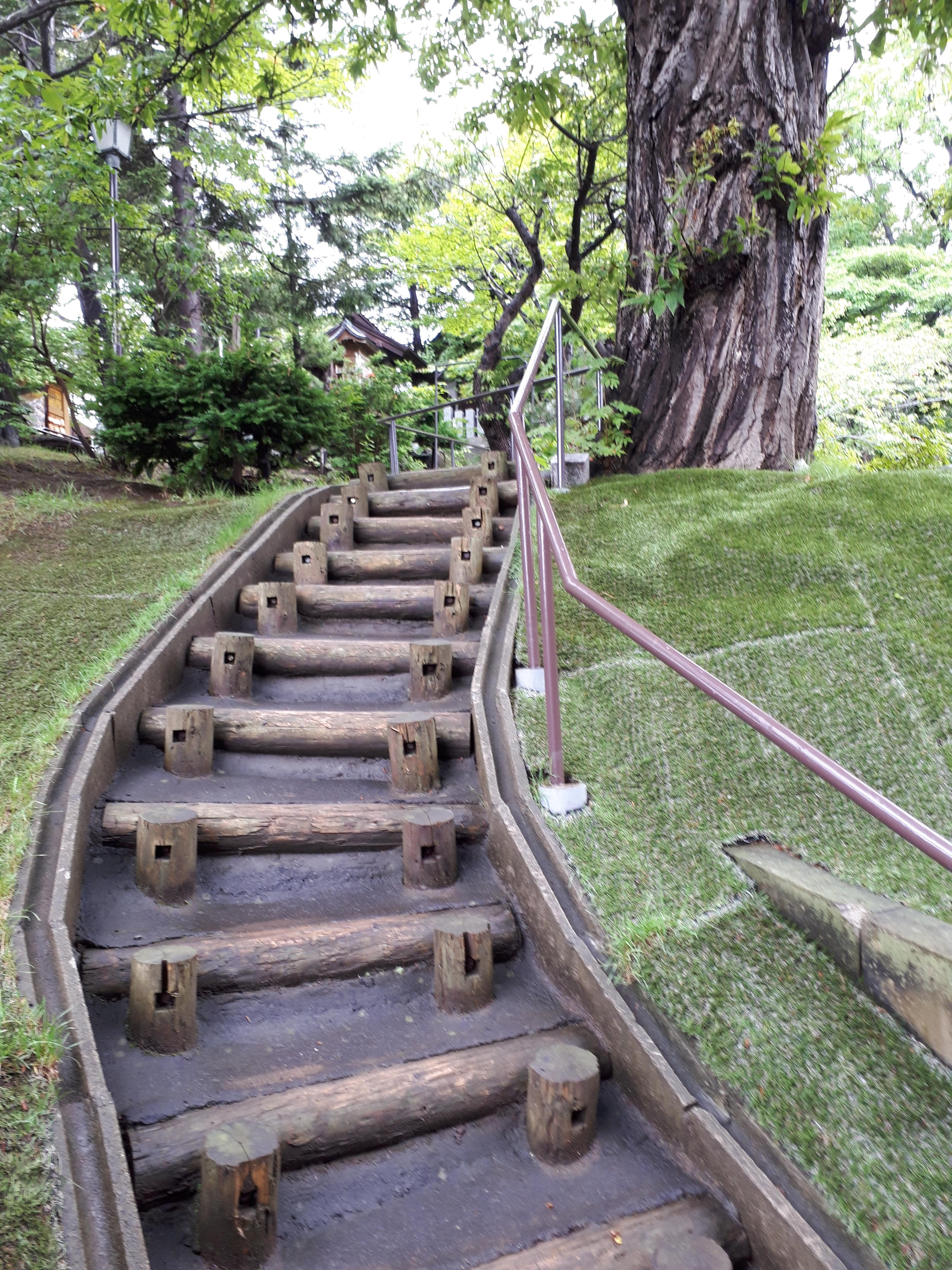 手稲神社の庭園