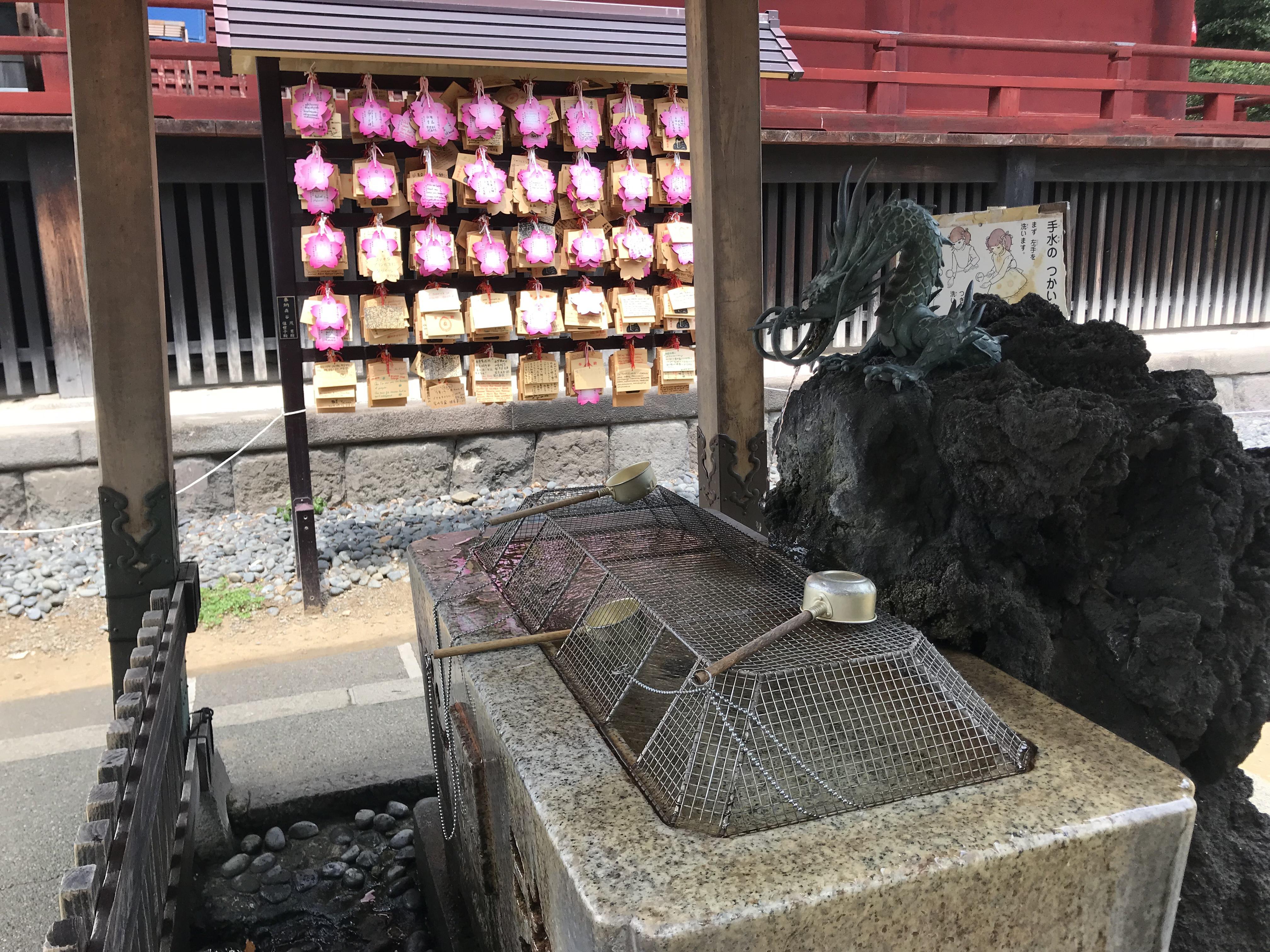 寛永寺の手水