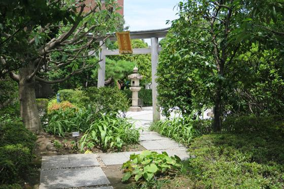 恵比寿神社の庭園