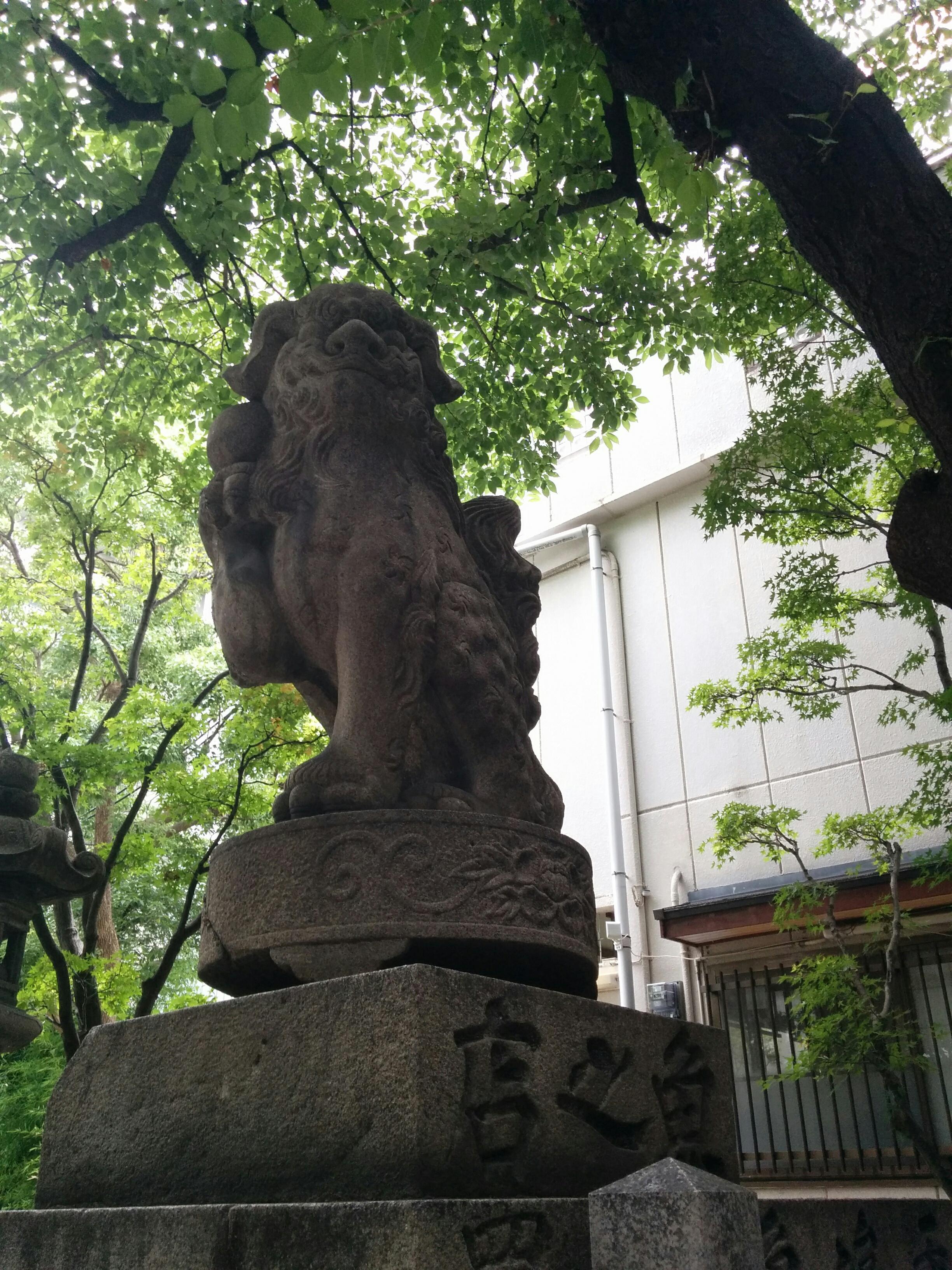 開口神社の狛犬