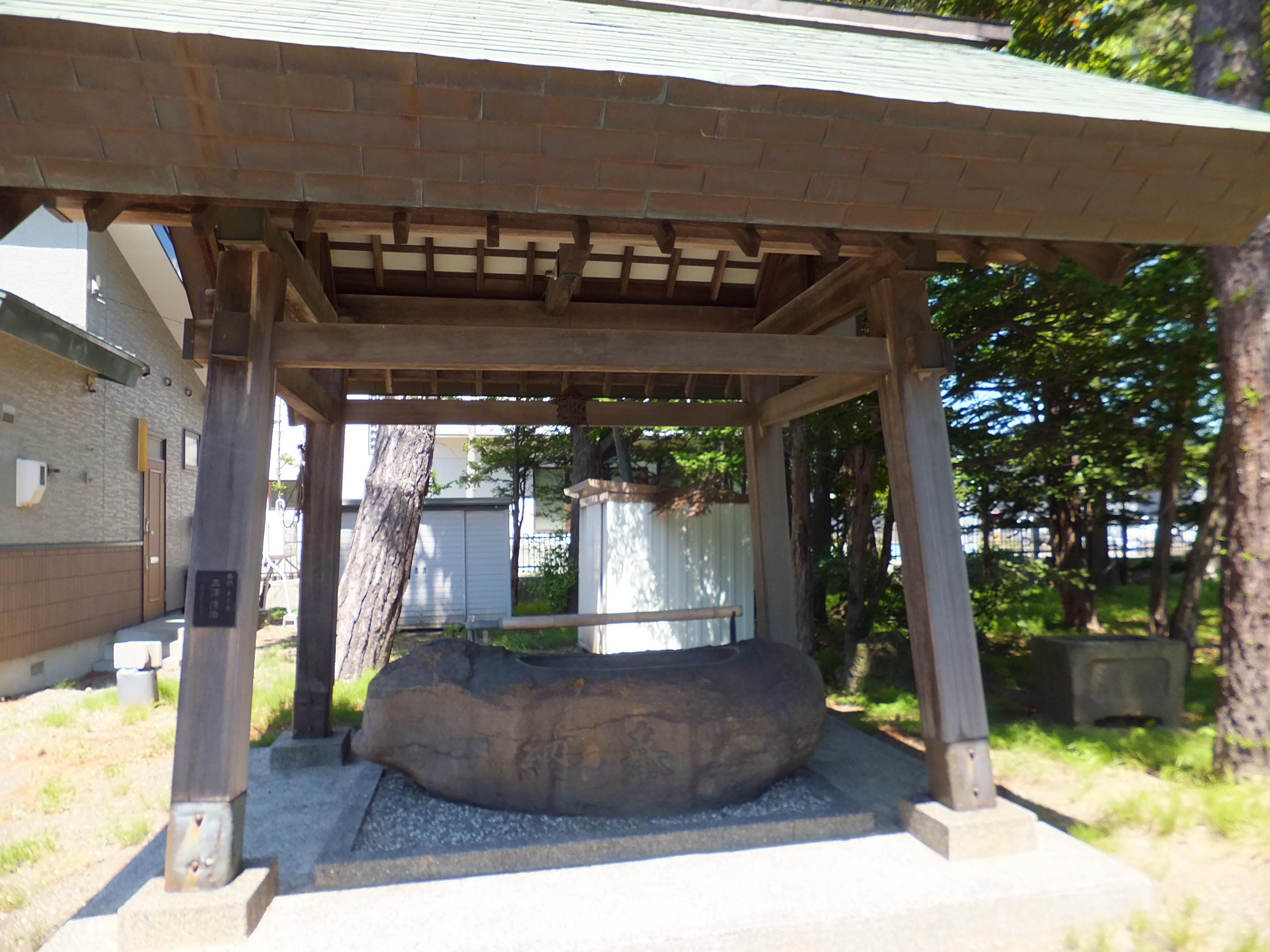丘珠神社の手水