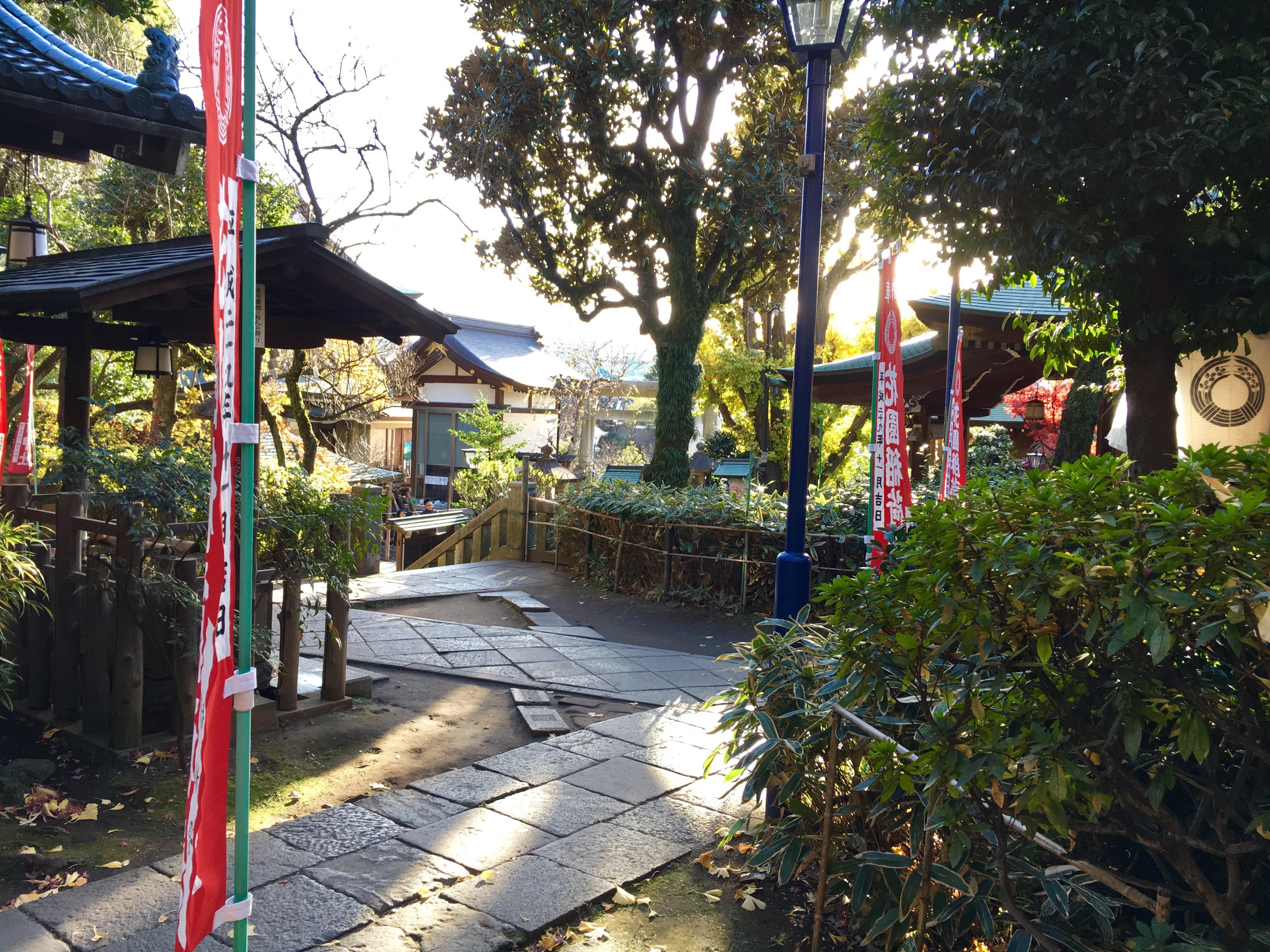 花園稲荷神社の庭園