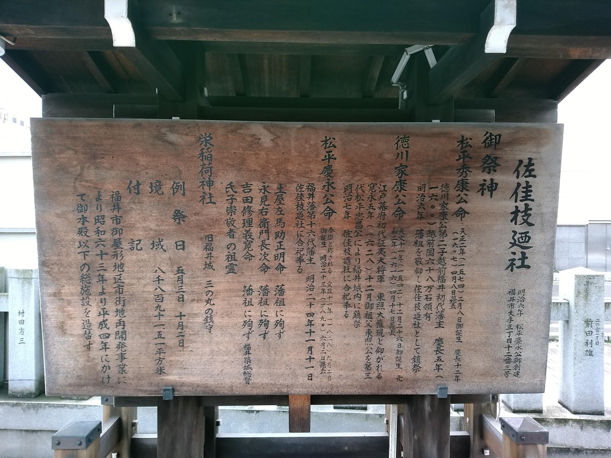 佐佳枝廼社の歴史