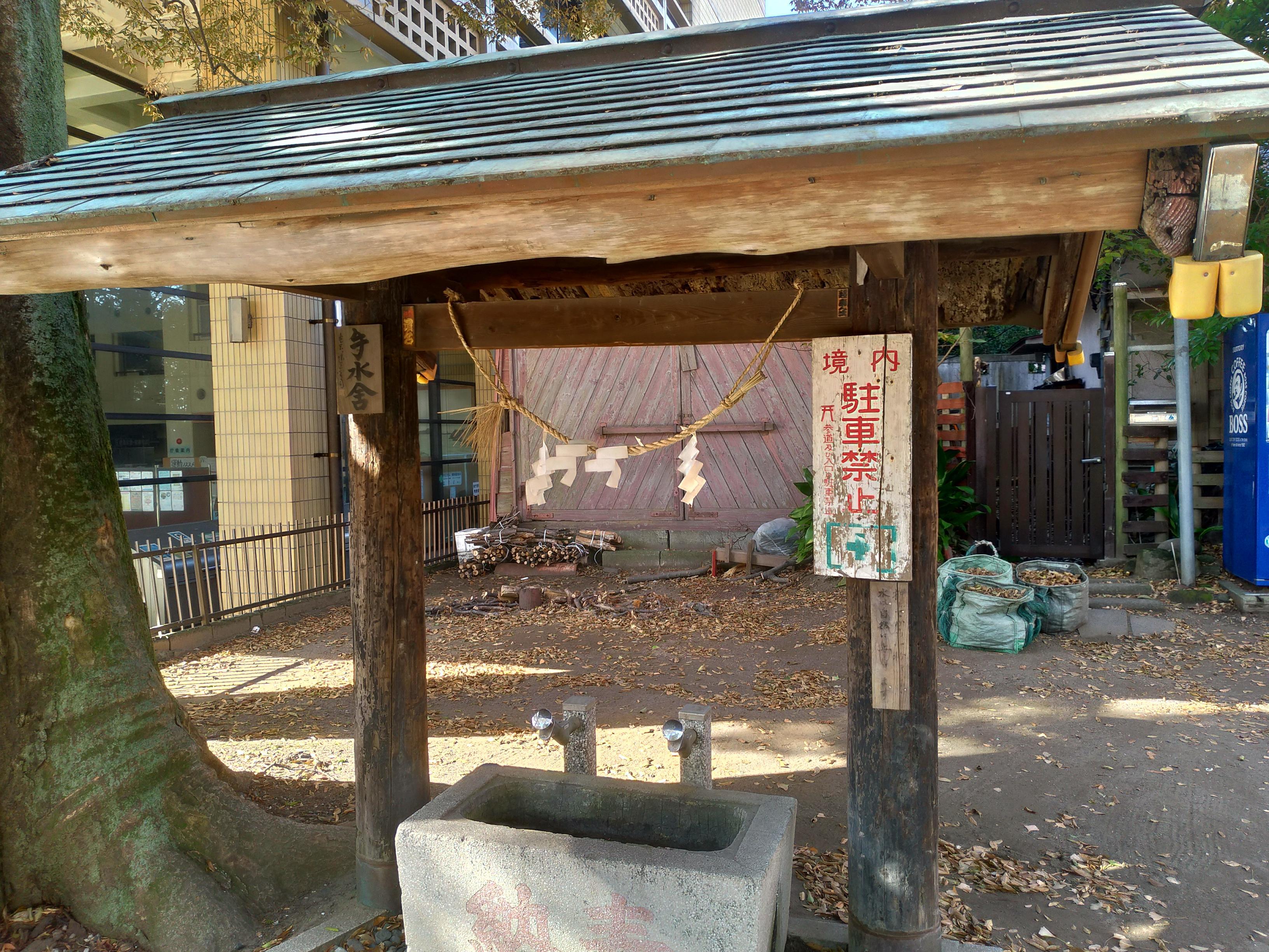 亀岡八幡宮の手水舎(神奈川県新逗子駅)