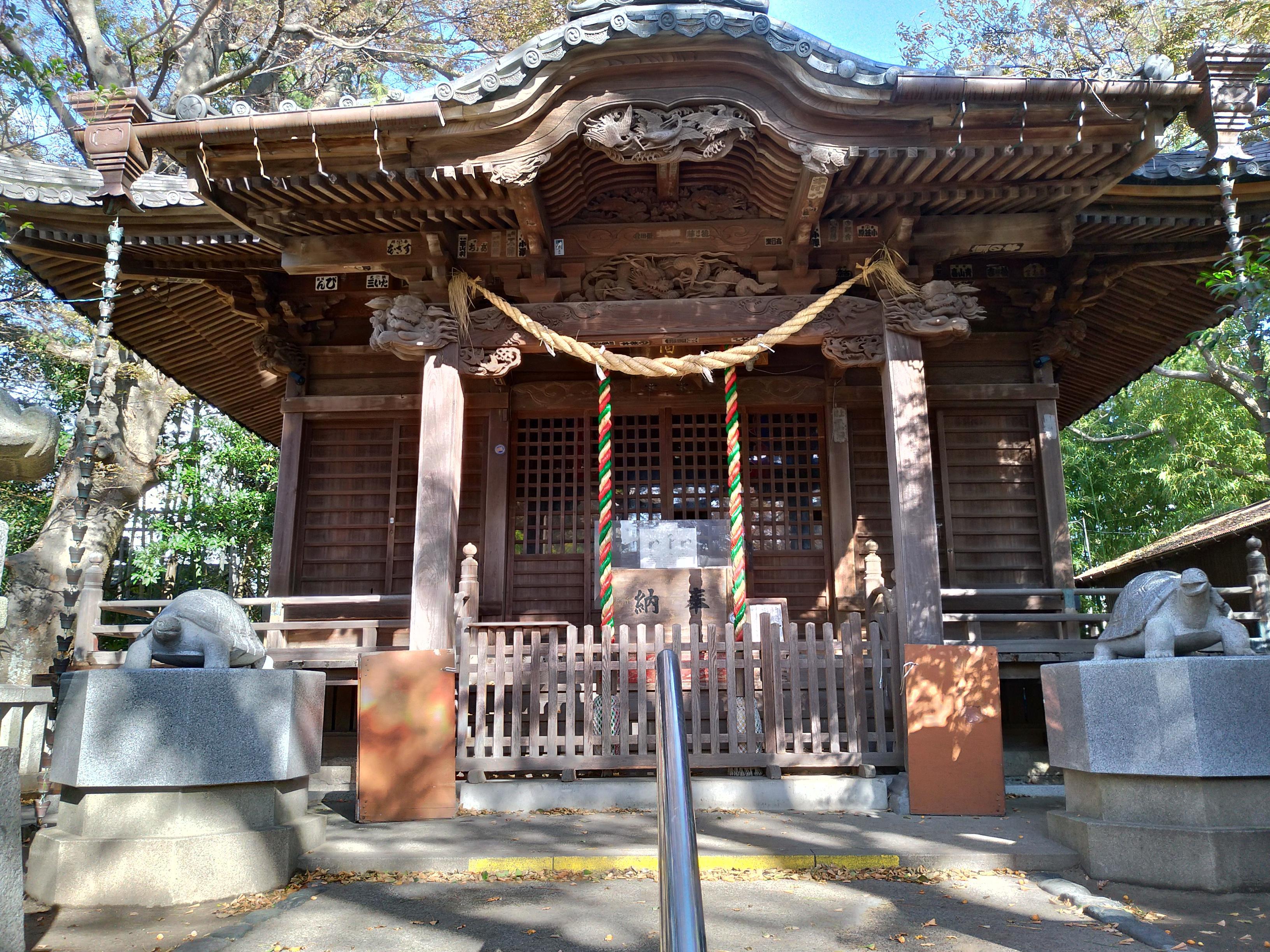 亀岡八幡宮の本殿・本堂(神奈川県新逗子駅)