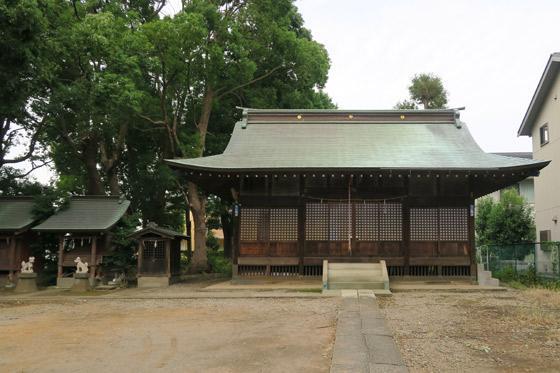 神明社の本殿(埼玉県南浦和駅)