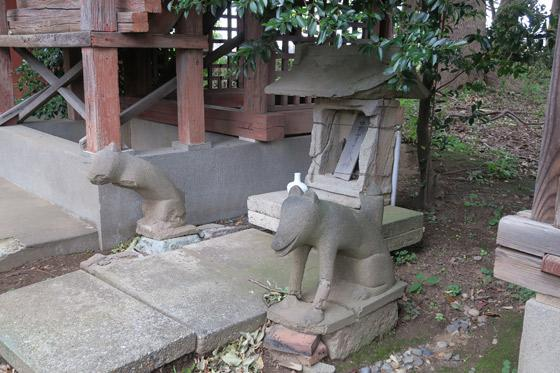神明社の狛犬(埼玉県南浦和駅)