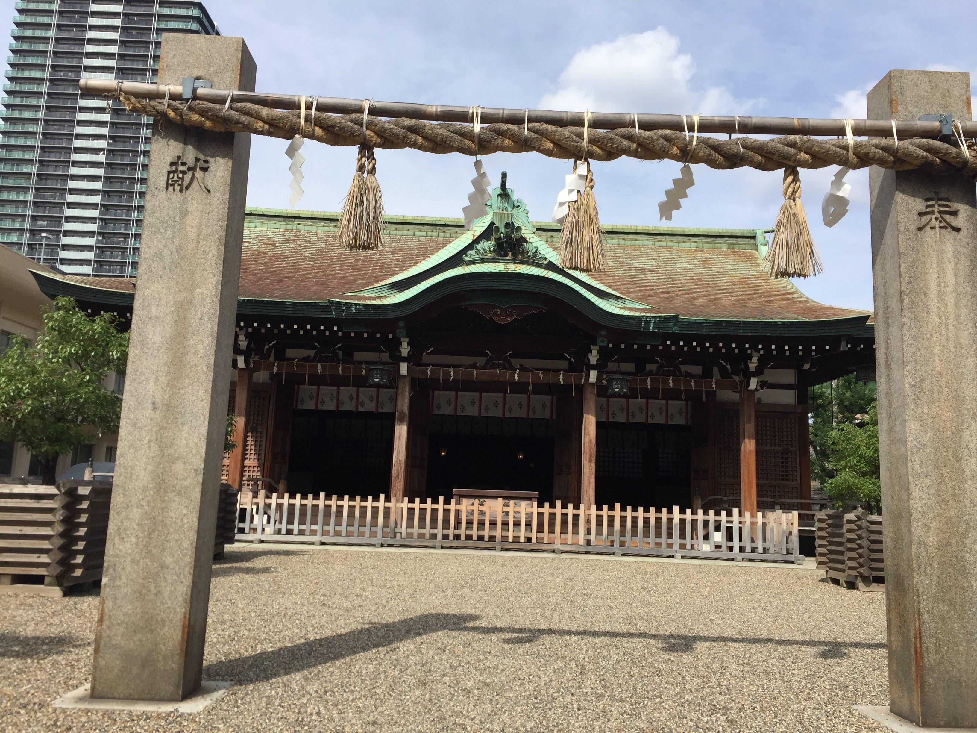 今宮戎神社の本殿・本堂(大阪府今宮戎駅)