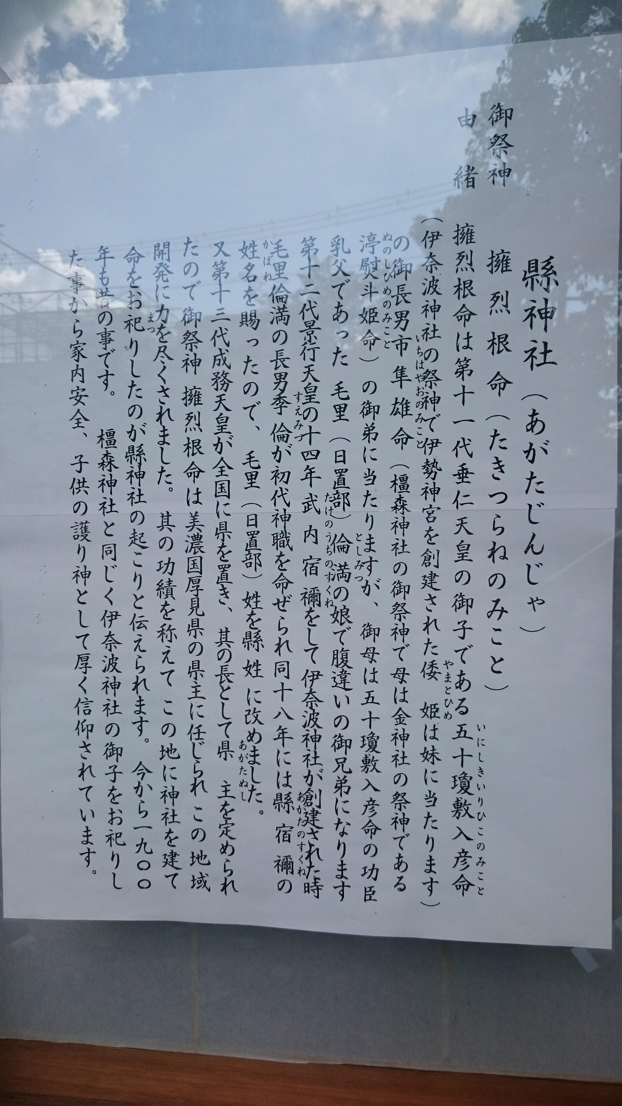 縣神社の歴史