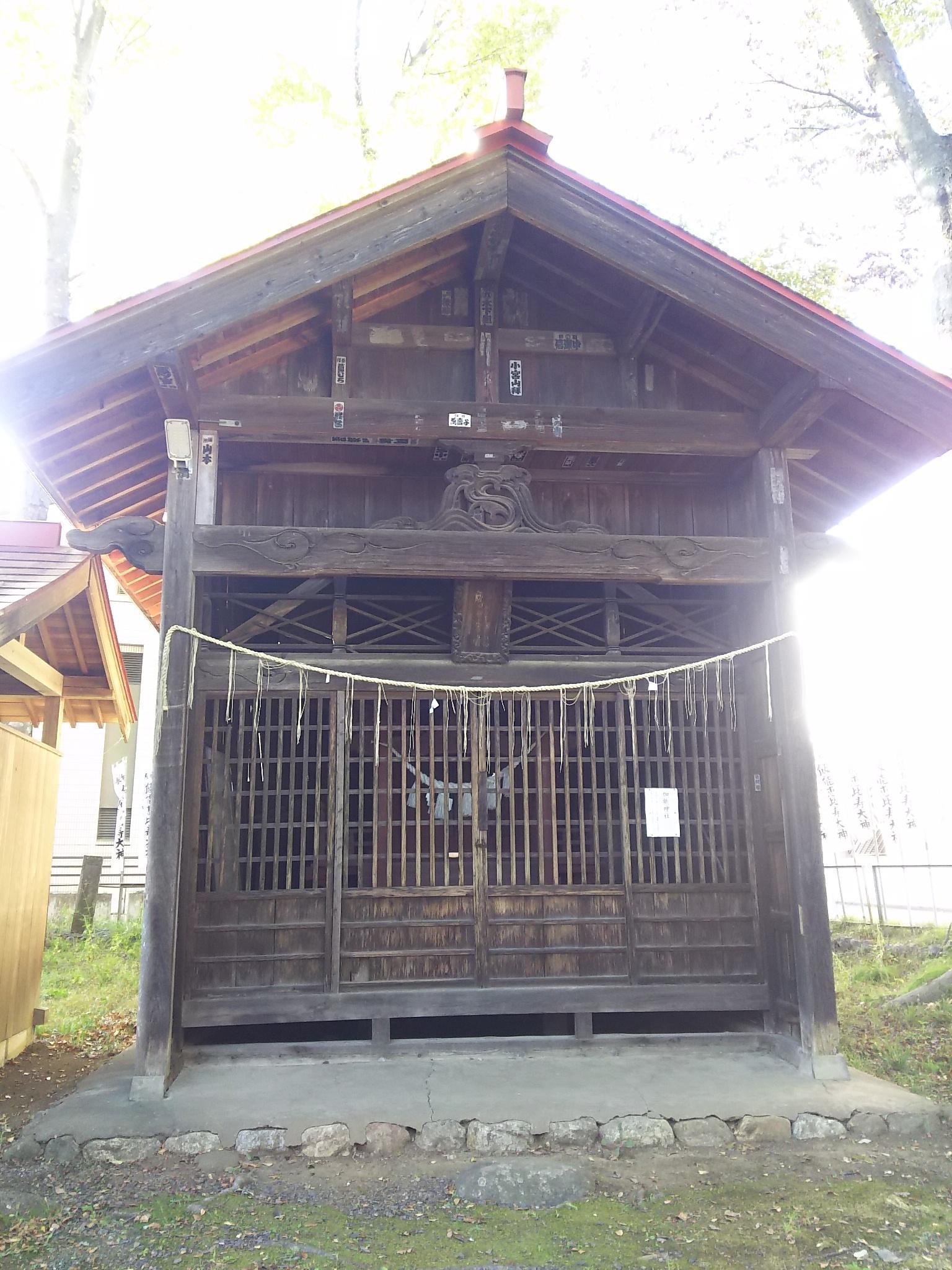 諏訪八幡神社の末社(埼玉県飯能駅)