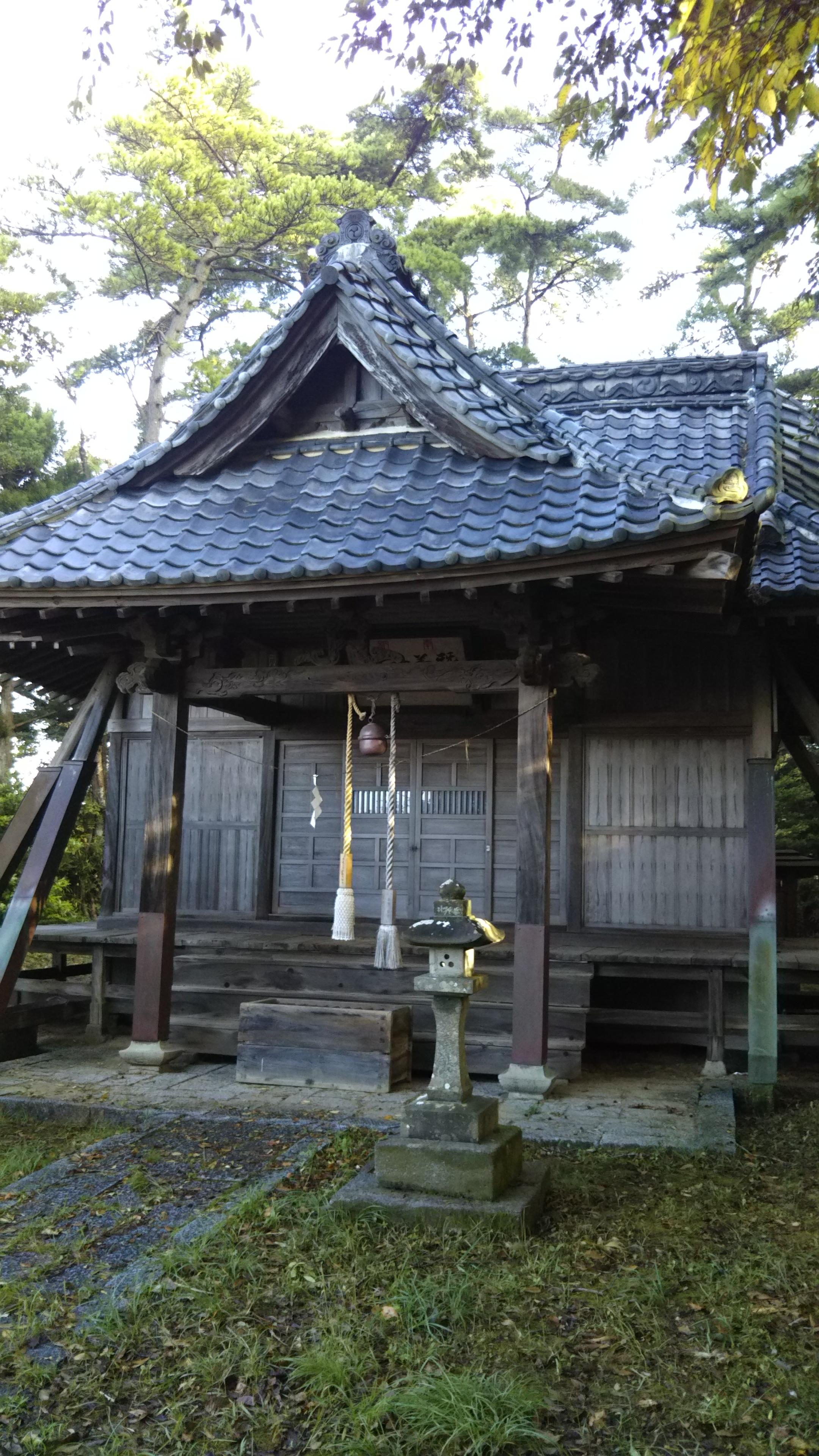 蠶養神社の本殿・本堂(茨城県十王駅)