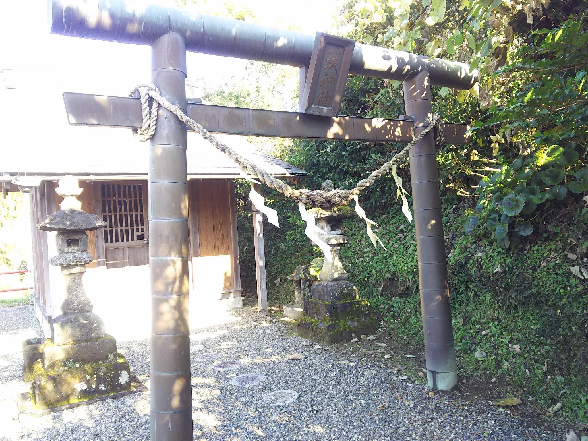 八坂神社の鳥居(千葉県上総亀山駅)