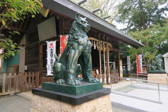 東新町氷川神社の狛犬(東京都ときわ台駅)